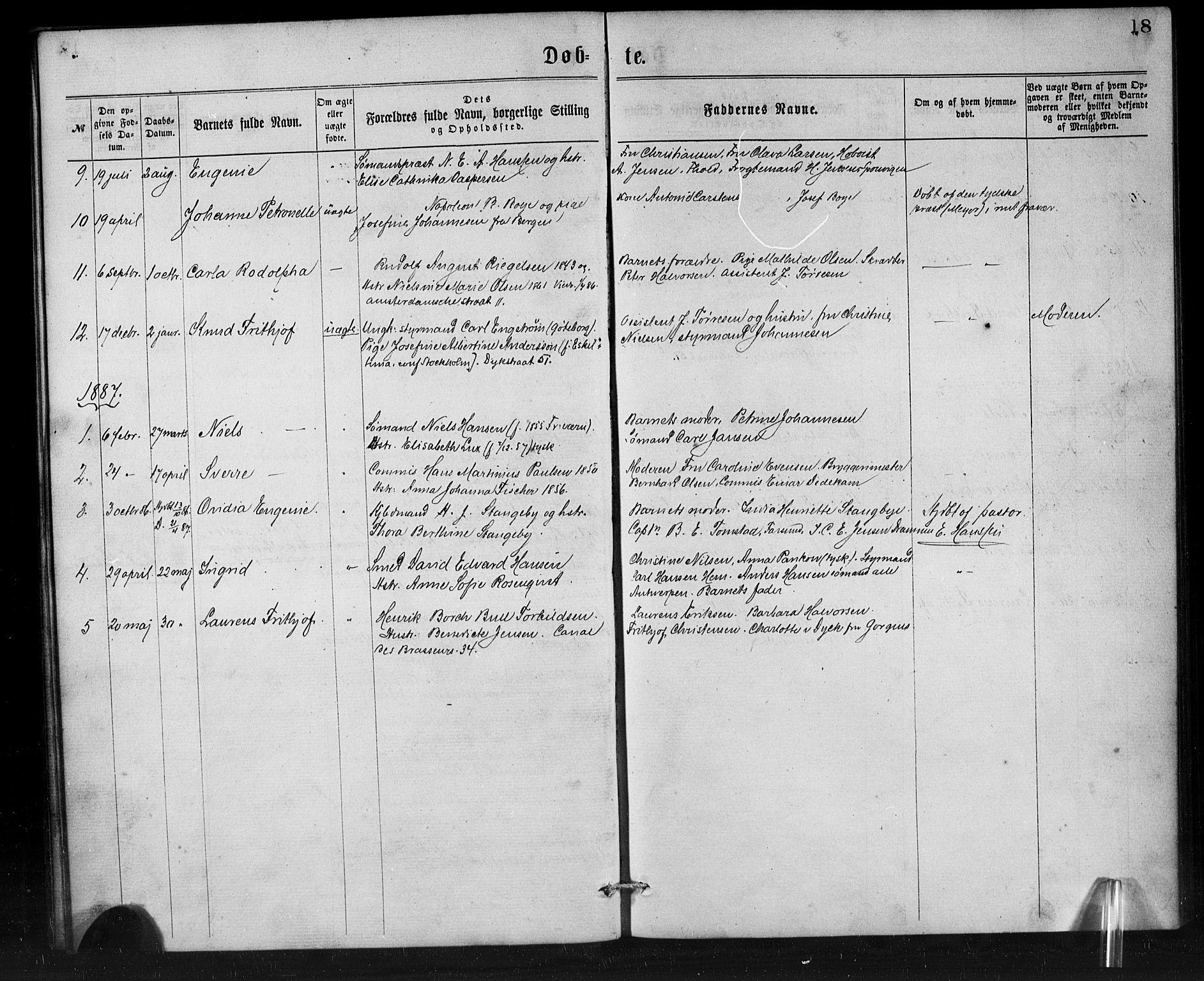 SAB, Den Norske Sjømannsmisjon i utlandet*, Ministerialbok nr. A 1, 1865-1887, s. 18