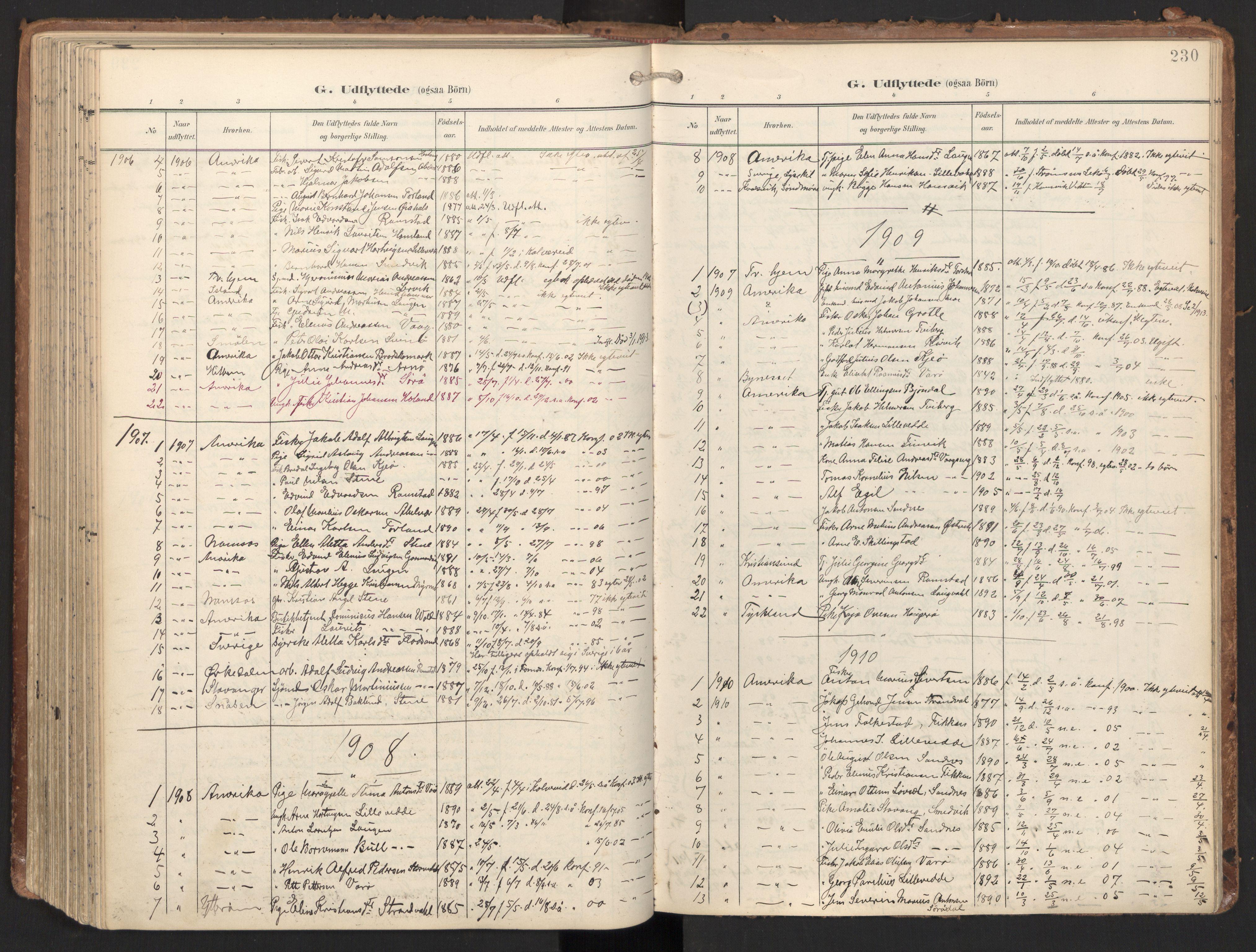 SAT, Ministerialprotokoller, klokkerbøker og fødselsregistre - Nord-Trøndelag, 784/L0677: Ministerialbok nr. 784A12, 1900-1920, s. 230
