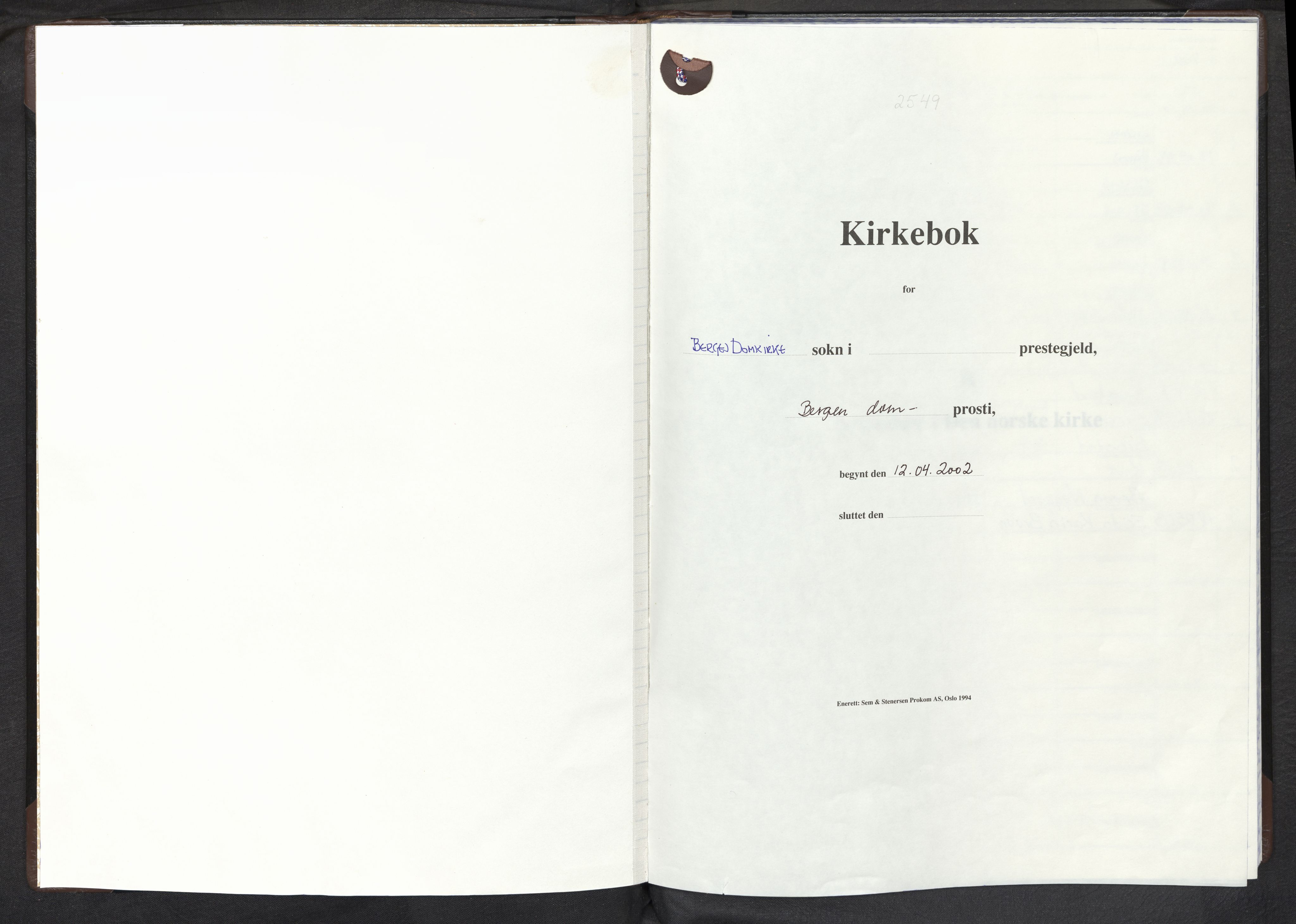 SAB, Domkirken Sokneprestembete, H/Haa: Ministerialbok nr. E 1, 2002-2011
