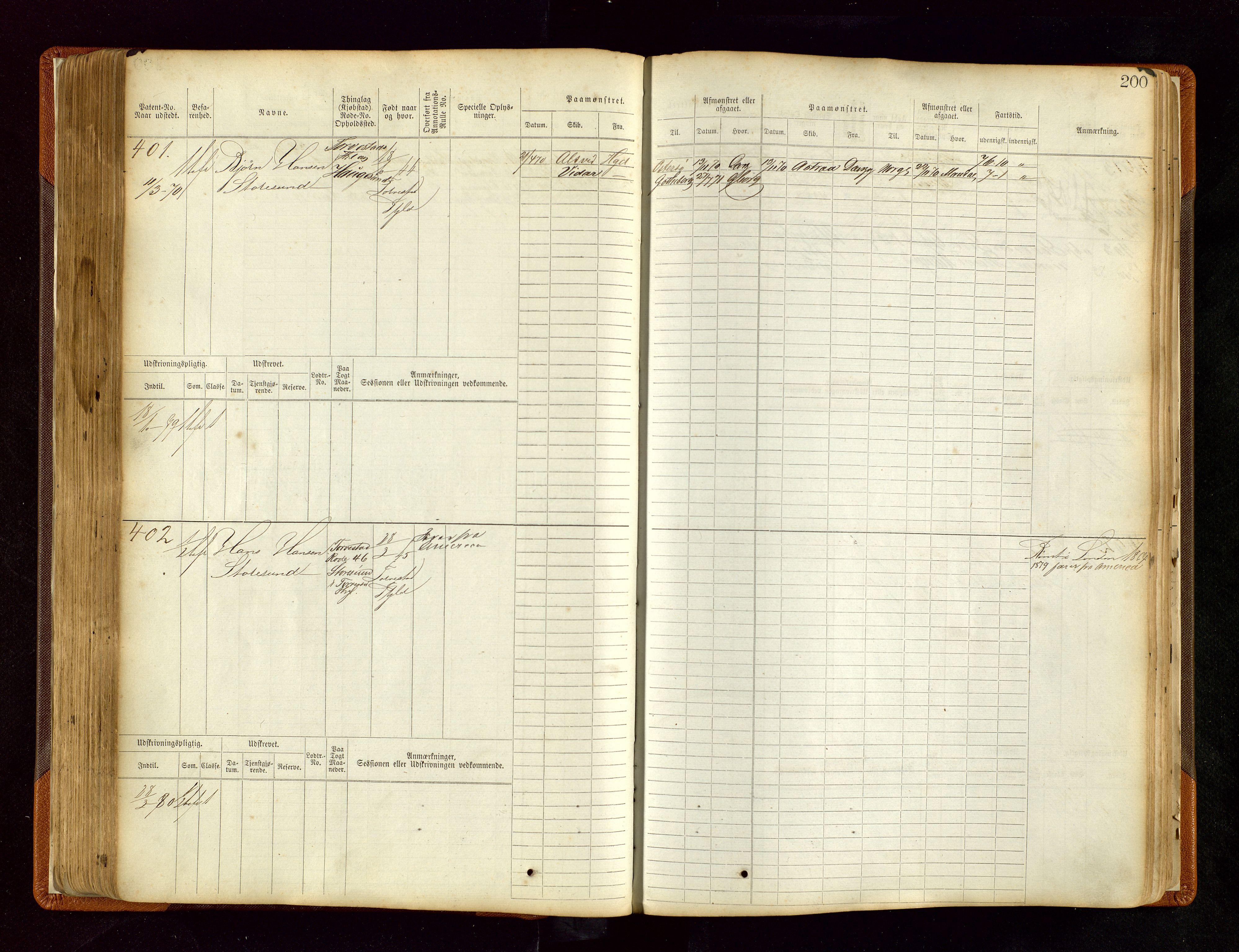 SAST, Haugesund sjømannskontor, F/Fb/Fbb/L0004: Sjøfartsrulle Haugesund krets nr. 1-1922, 1868-1948, s. 200