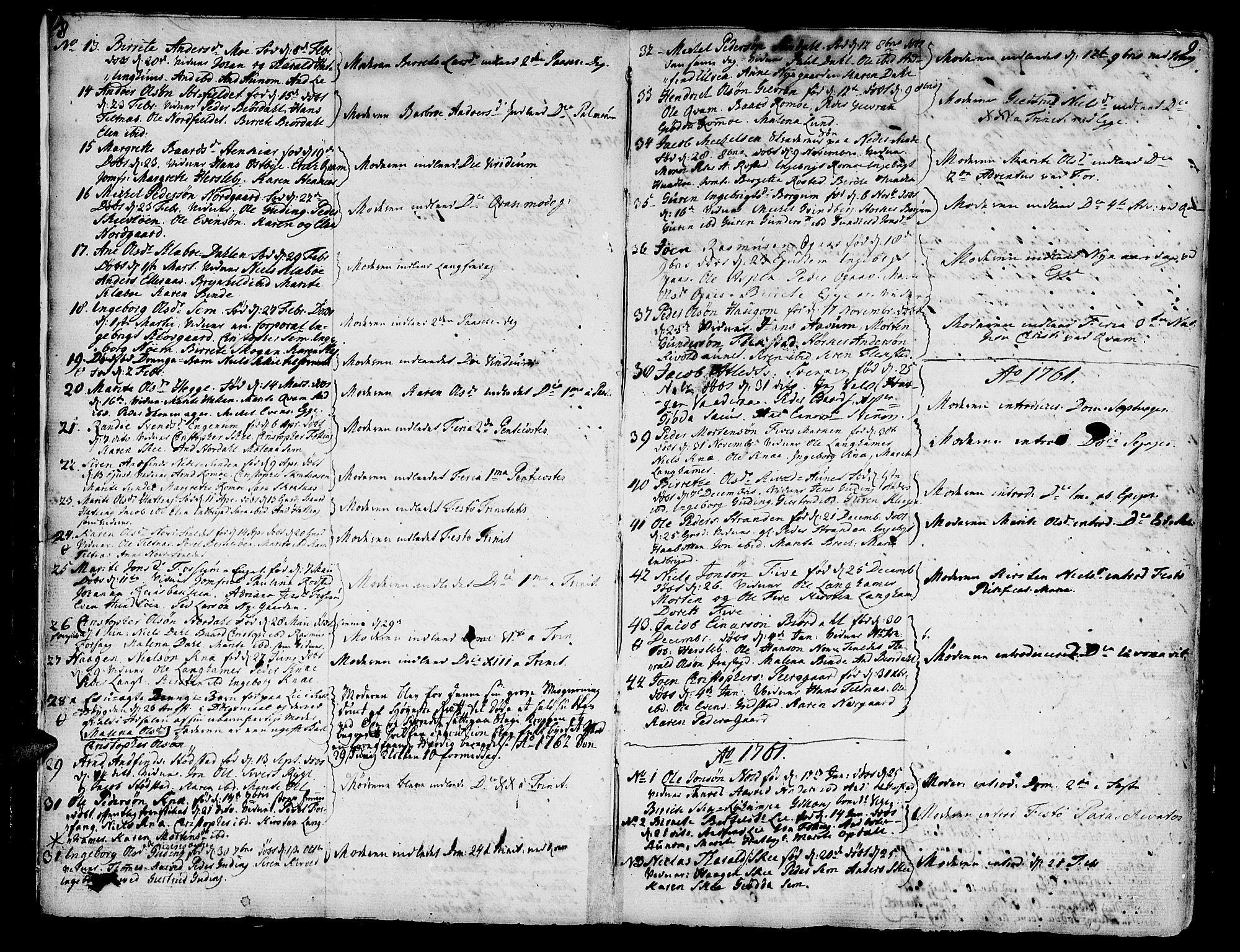 SAT, Ministerialprotokoller, klokkerbøker og fødselsregistre - Nord-Trøndelag, 746/L0440: Ministerialbok nr. 746A02, 1760-1815, s. 8-9