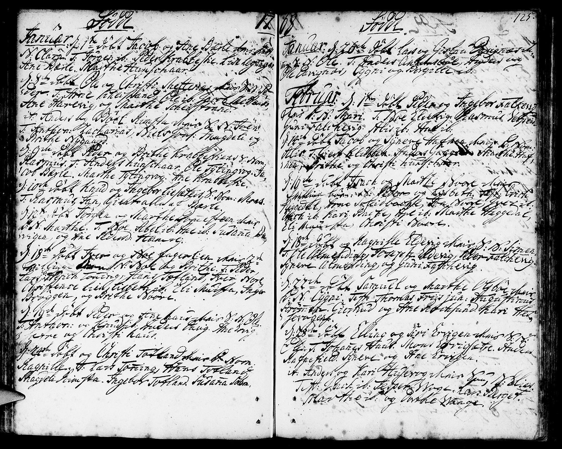 SAB, Davik Sokneprestembete, Ministerialbok nr. A 2, 1742-1816, s. 125