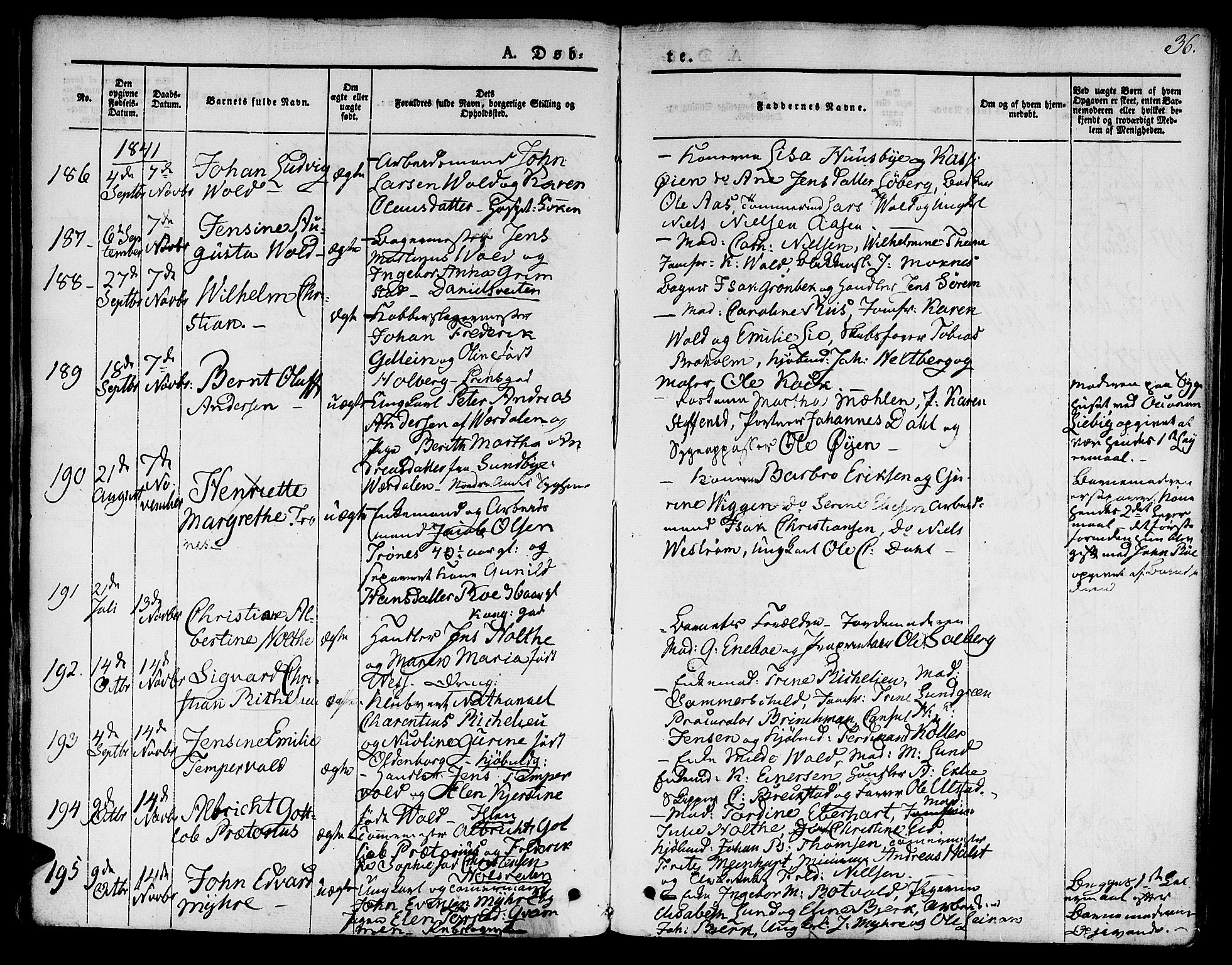 SAT, Ministerialprotokoller, klokkerbøker og fødselsregistre - Sør-Trøndelag, 601/L0048: Ministerialbok nr. 601A16, 1840-1847, s. 36