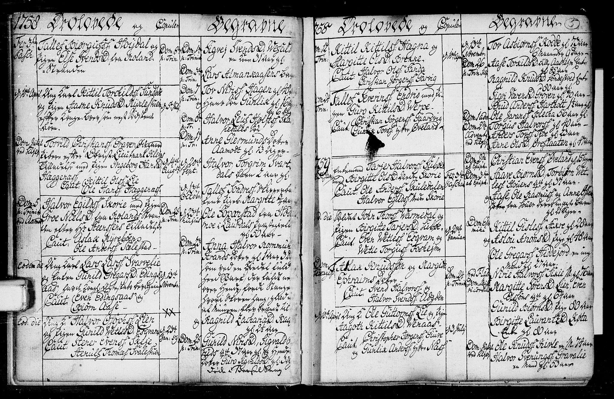SAKO, Seljord kirkebøker, F/Fa/L0008: Ministerialbok nr. I 8, 1755-1814, s. 5
