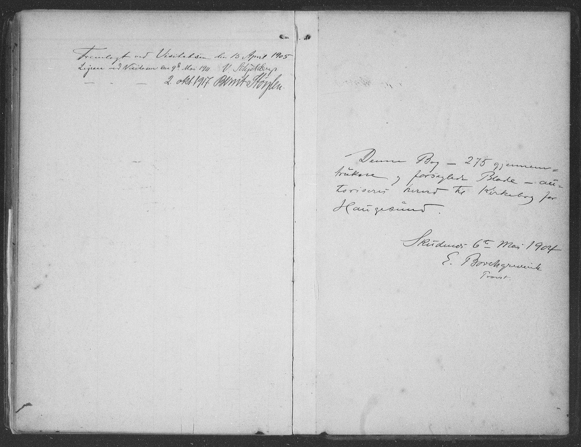 SAST, Haugesund sokneprestkontor, H/Ha/Haa/L0007: Ministerialbok nr. A 7, 1904-1916