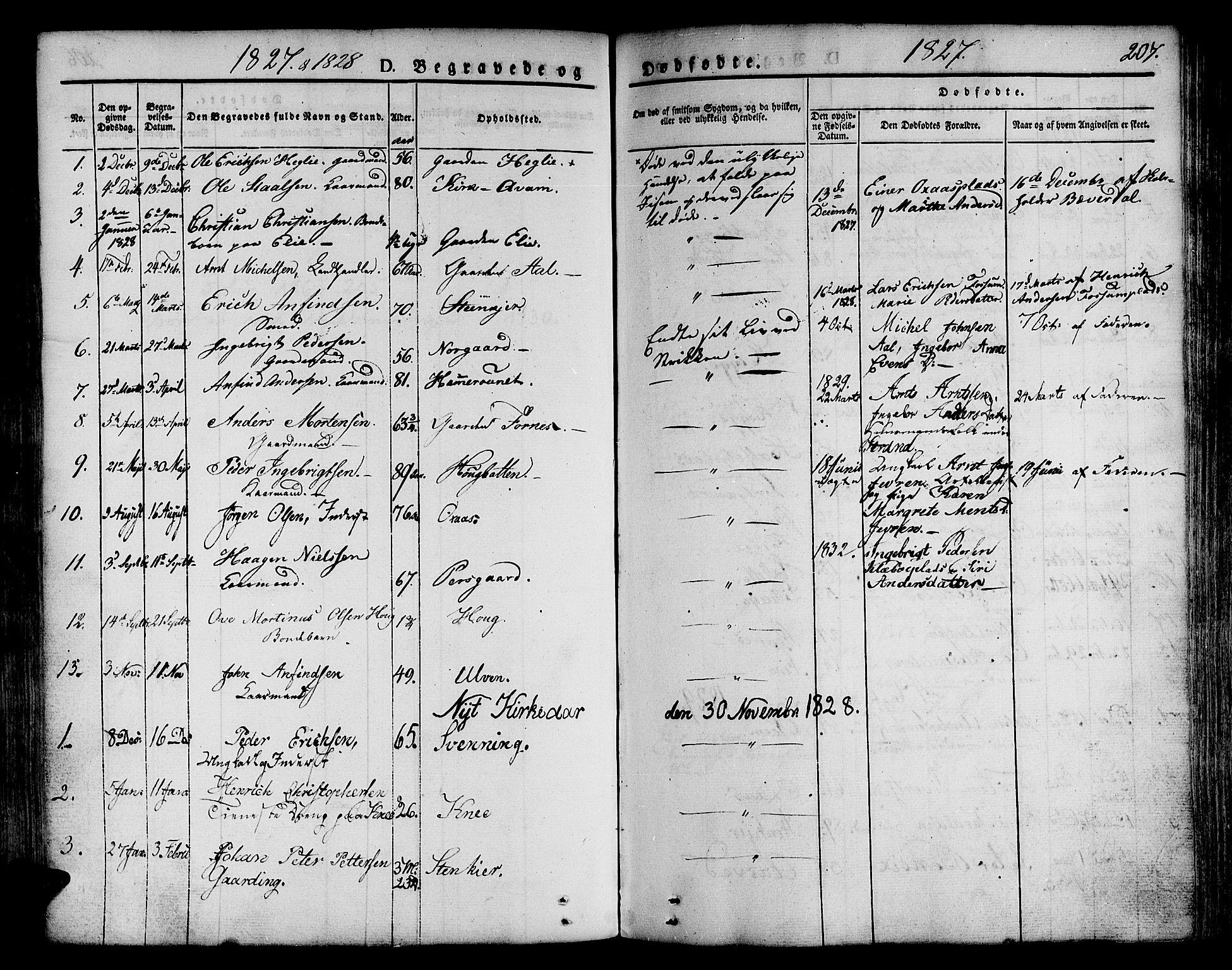 SAT, Ministerialprotokoller, klokkerbøker og fødselsregistre - Nord-Trøndelag, 746/L0445: Ministerialbok nr. 746A04, 1826-1846, s. 207