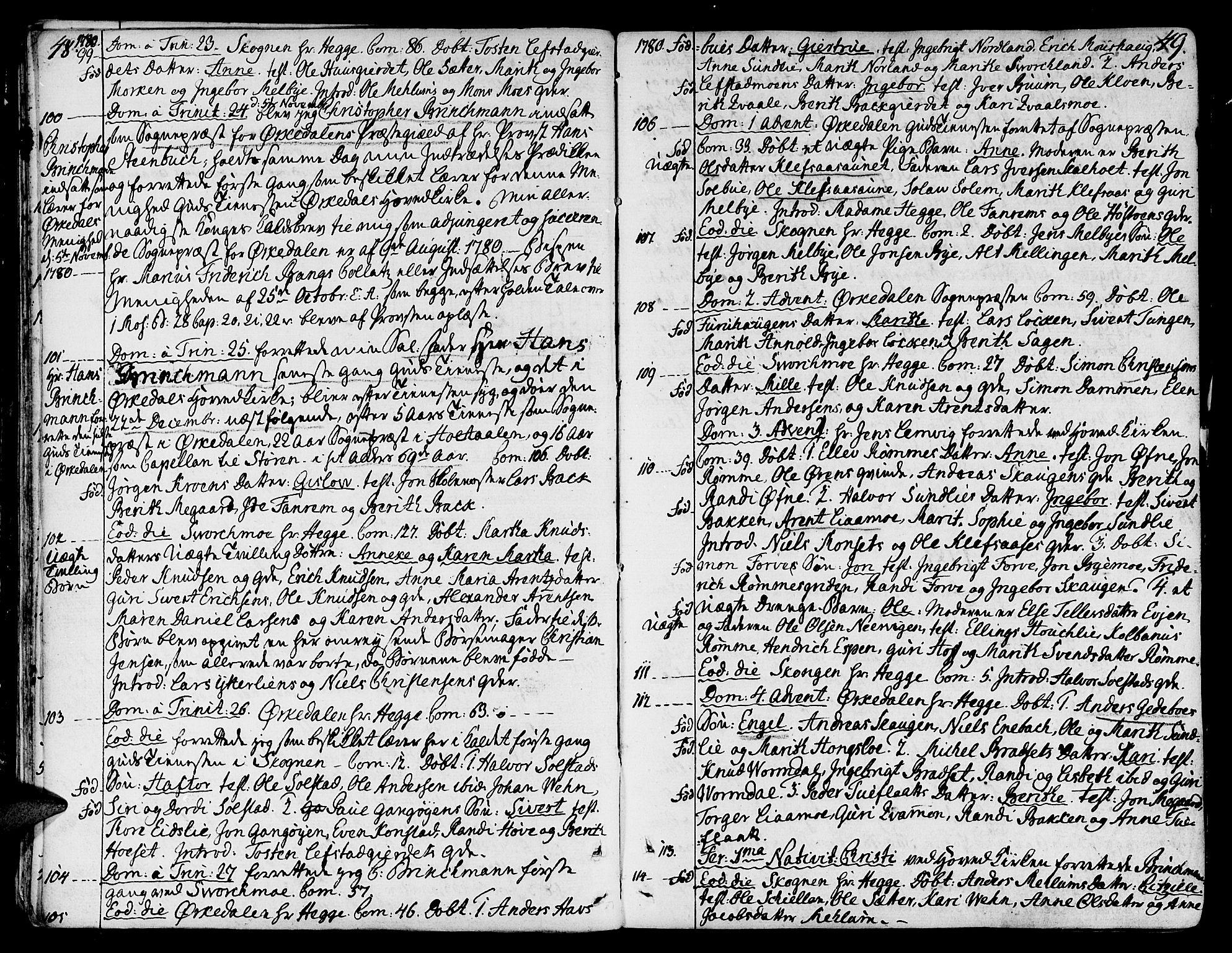 SAT, Ministerialprotokoller, klokkerbøker og fødselsregistre - Sør-Trøndelag, 668/L0802: Ministerialbok nr. 668A02, 1776-1799, s. 48-49