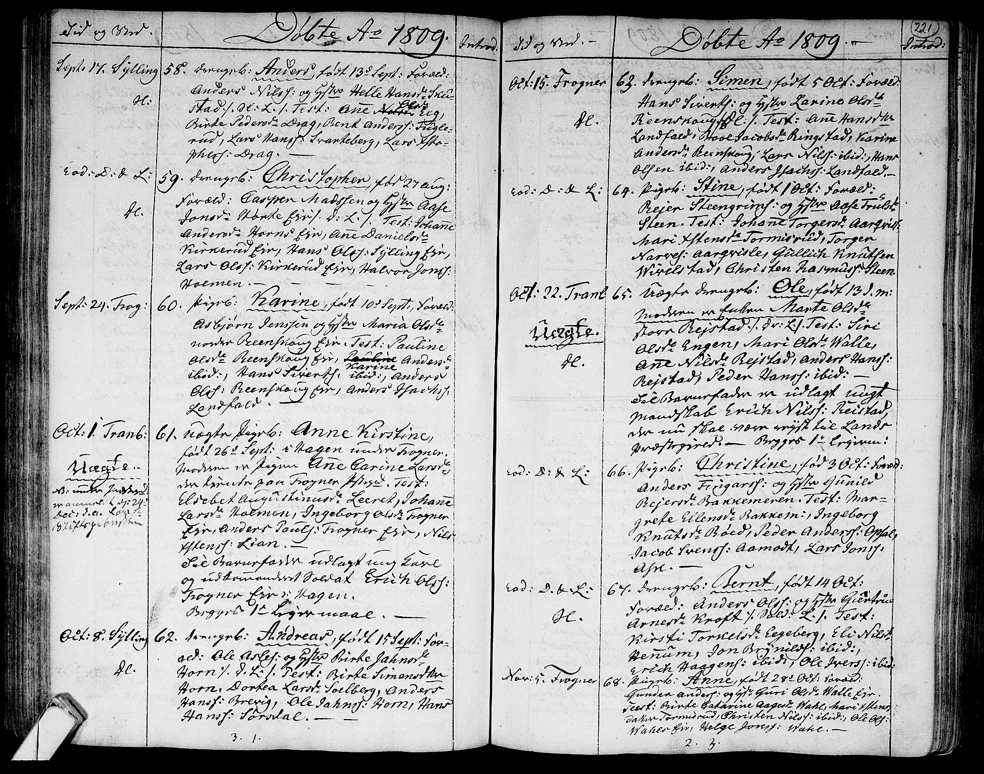 SAKO, Lier kirkebøker, F/Fa/L0007: Ministerialbok nr. I 7, 1794-1813, s. 221