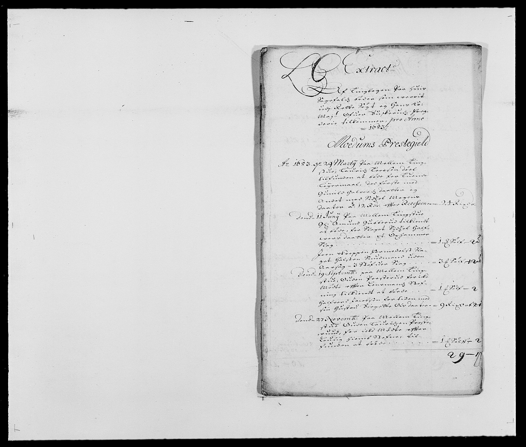 RA, Rentekammeret inntil 1814, Reviderte regnskaper, Fogderegnskap, R25/L1677: Fogderegnskap Buskerud, 1683-1684, s. 26