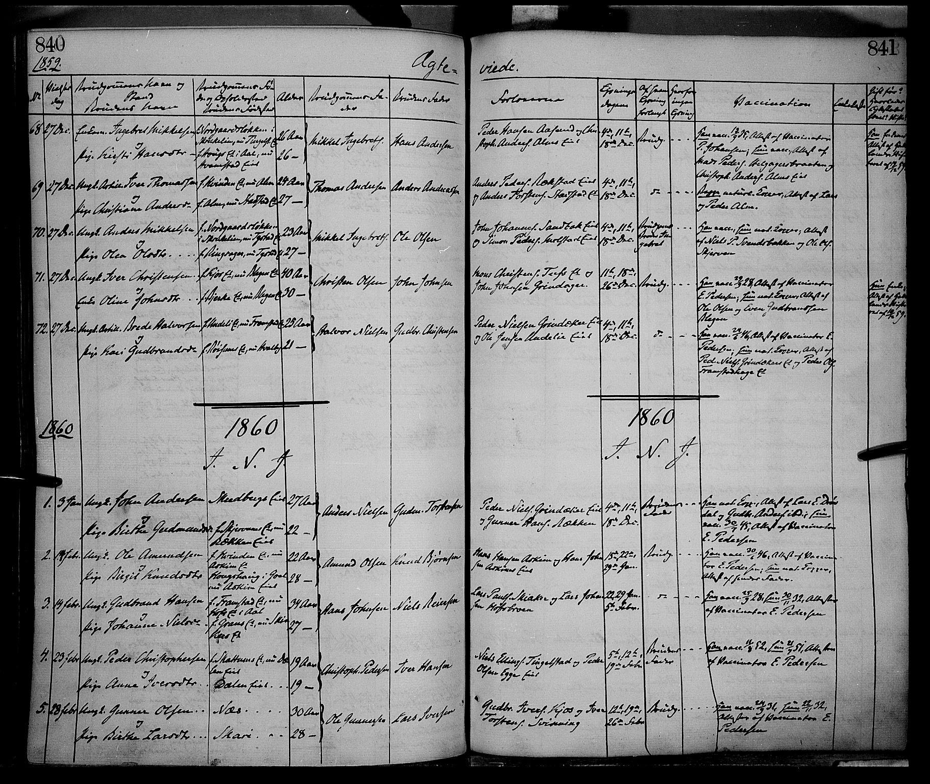 SAH, Gran prestekontor, Ministerialbok nr. 12, 1856-1874, s. 840-841