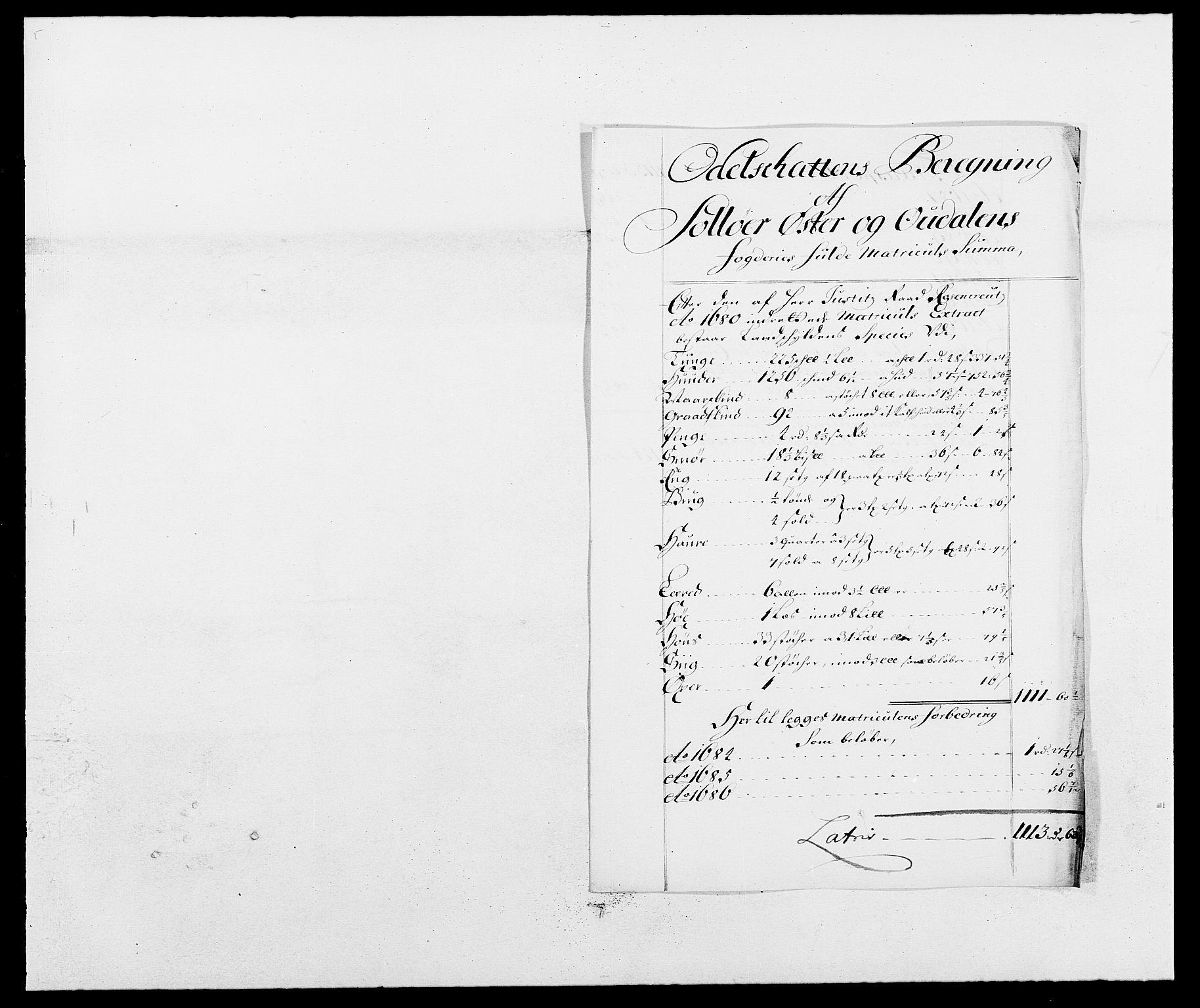 RA, Rentekammeret inntil 1814, Reviderte regnskaper, Fogderegnskap, R13/L0827: Fogderegnskap Solør, Odal og Østerdal, 1689, s. 242