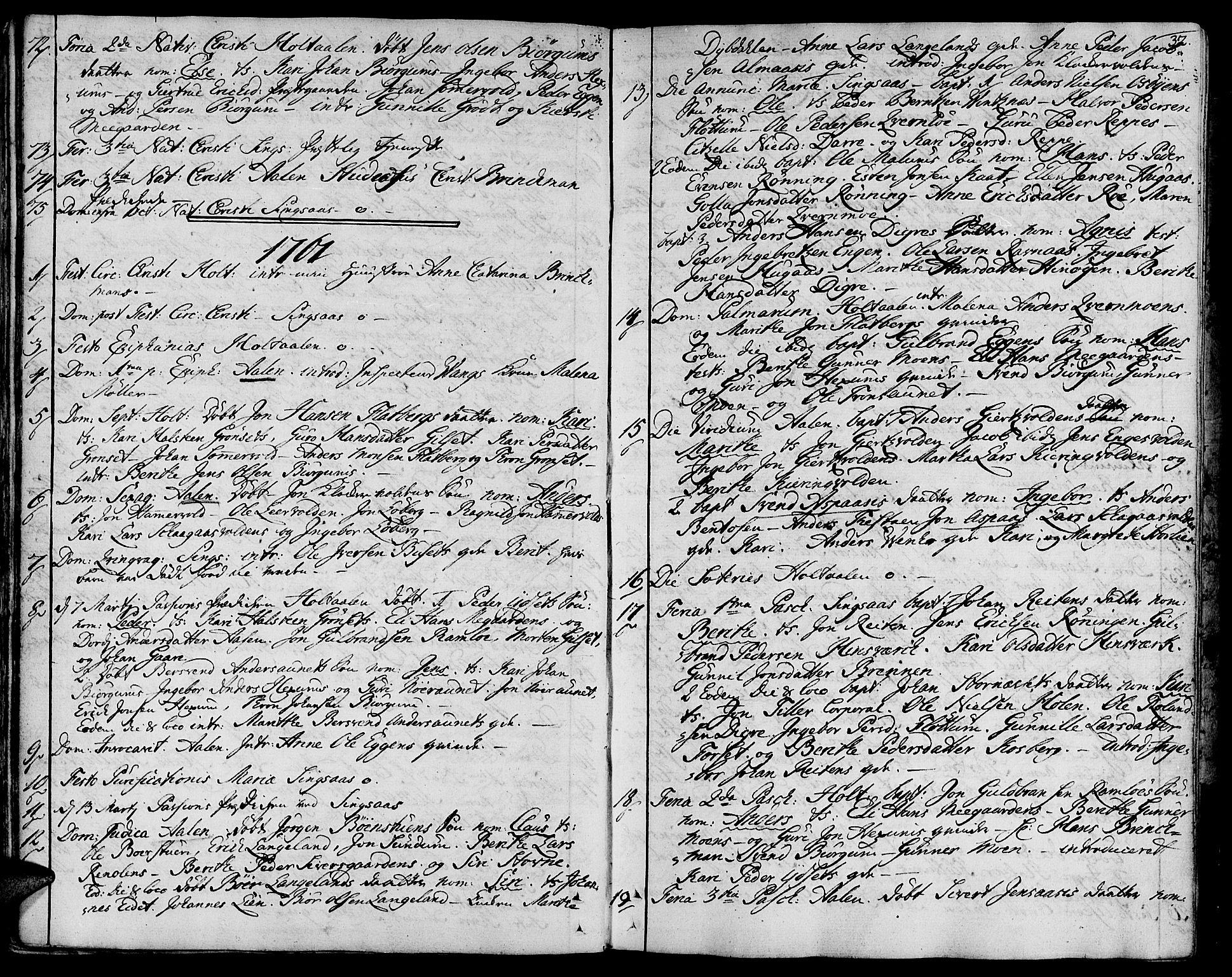 SAT, Ministerialprotokoller, klokkerbøker og fødselsregistre - Sør-Trøndelag, 685/L0952: Ministerialbok nr. 685A01, 1745-1804, s. 32