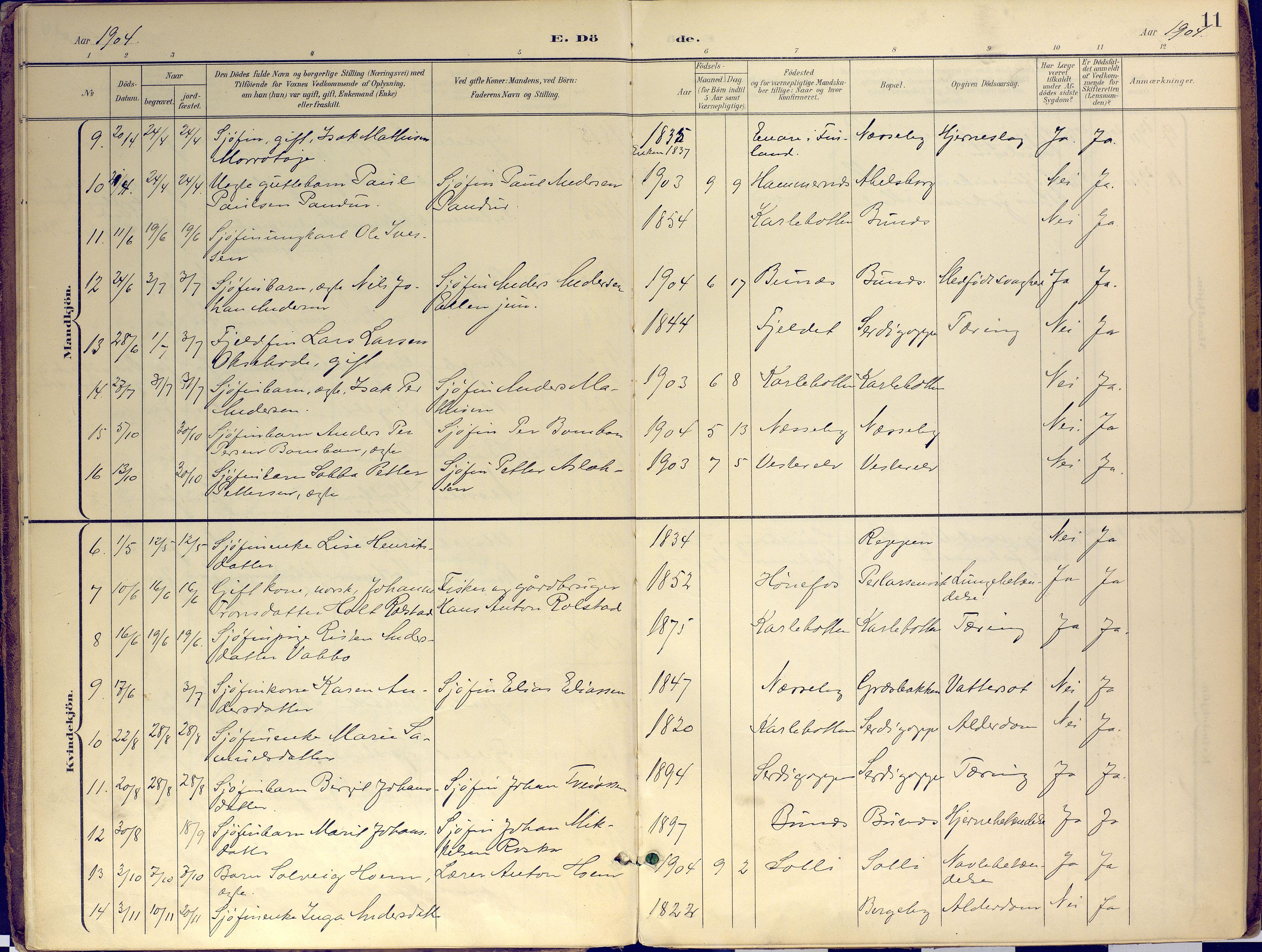 SATØ, Nesseby sokneprestkontor, H/Ha/L0007kirke: Ministerialbok nr. 7, 1898-1921, s. 11