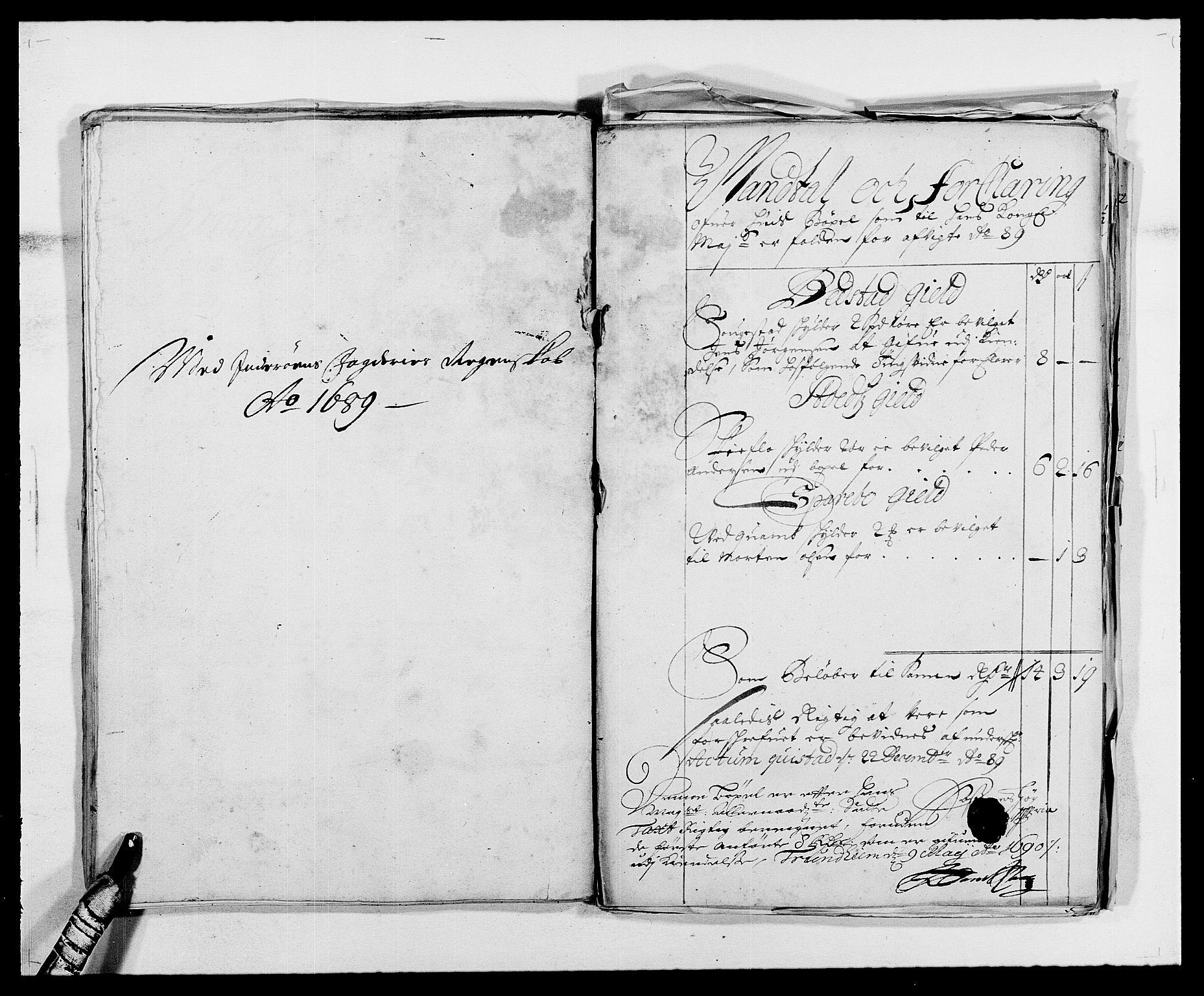 RA, Rentekammeret inntil 1814, Reviderte regnskaper, Fogderegnskap, R63/L4306: Fogderegnskap Inderøy, 1687-1689, s. 475