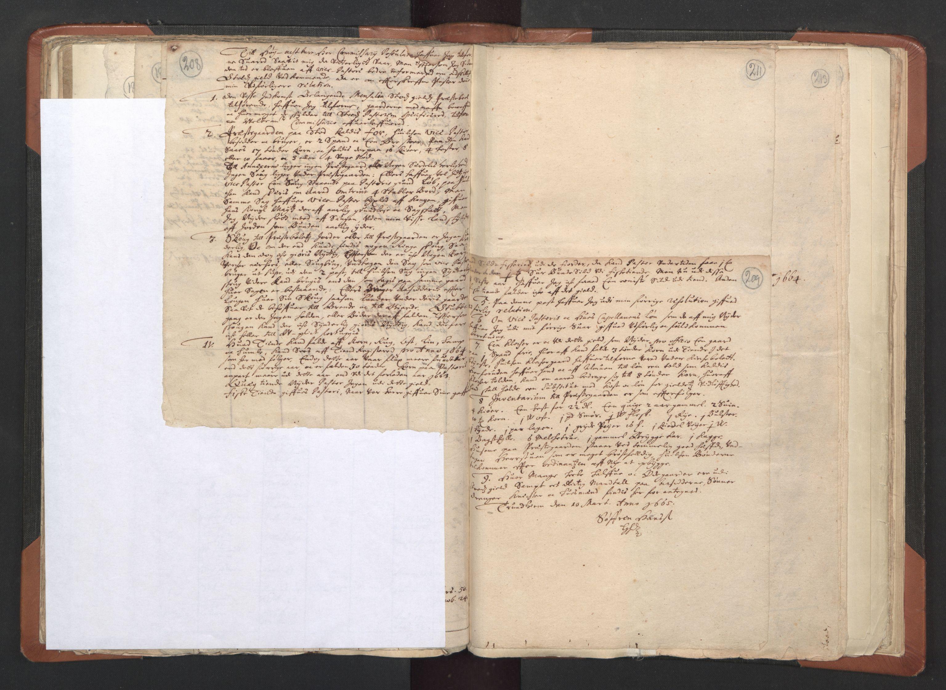 RA, Sogneprestenes manntall 1664-1666, nr. 33: Innherad prosti, 1664-1666, s. 208-209