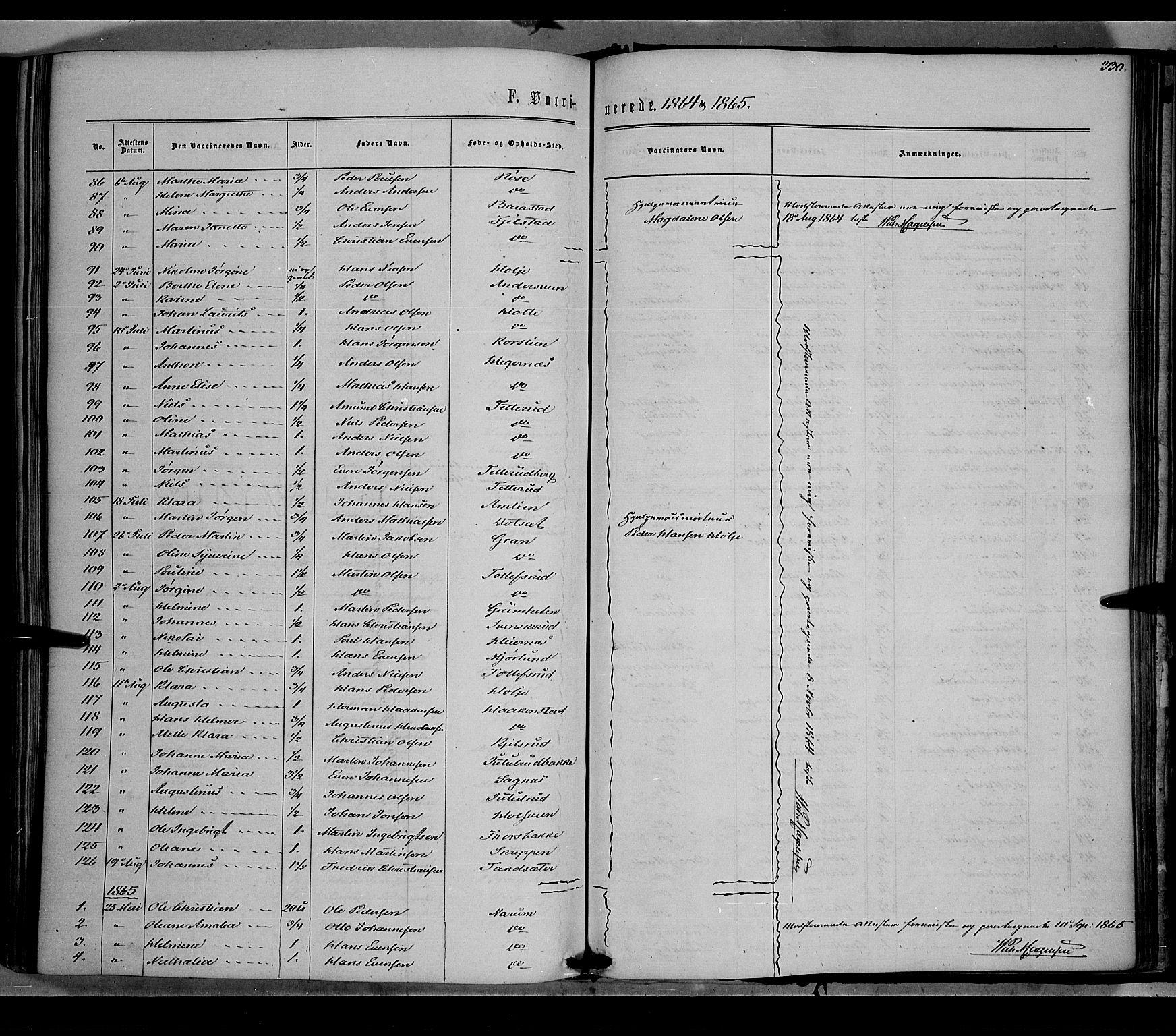 SAH, Vestre Toten prestekontor, H/Ha/Haa/L0007: Ministerialbok nr. 7, 1862-1869, s. 330