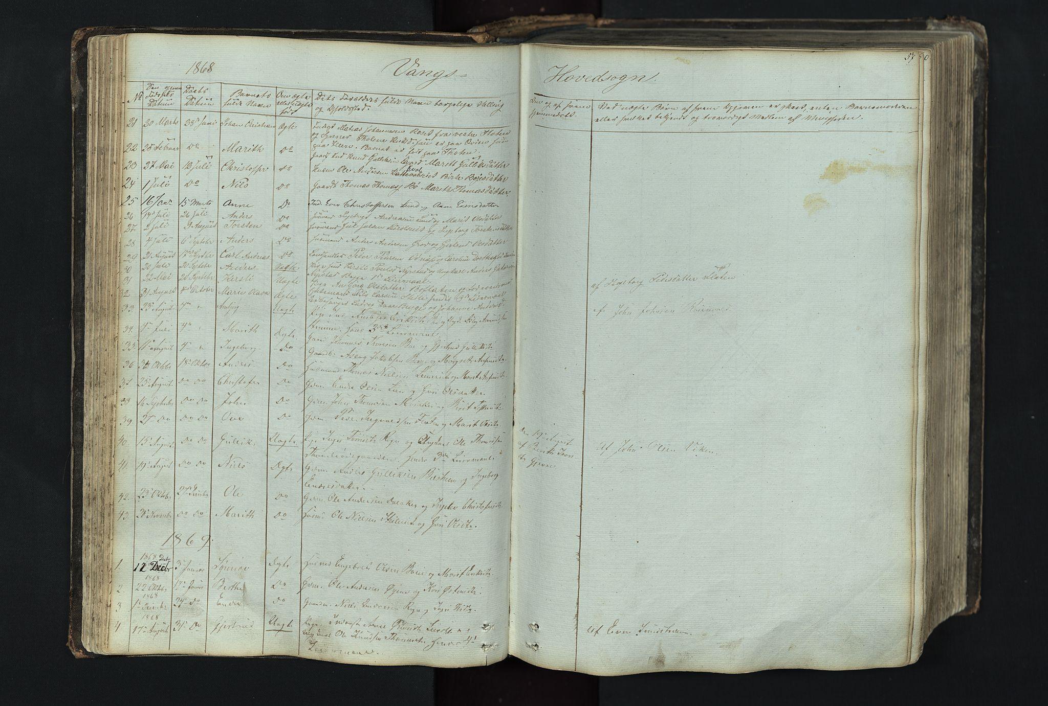 SAH, Vang prestekontor, Valdres, Klokkerbok nr. 4, 1835-1892, s. 57