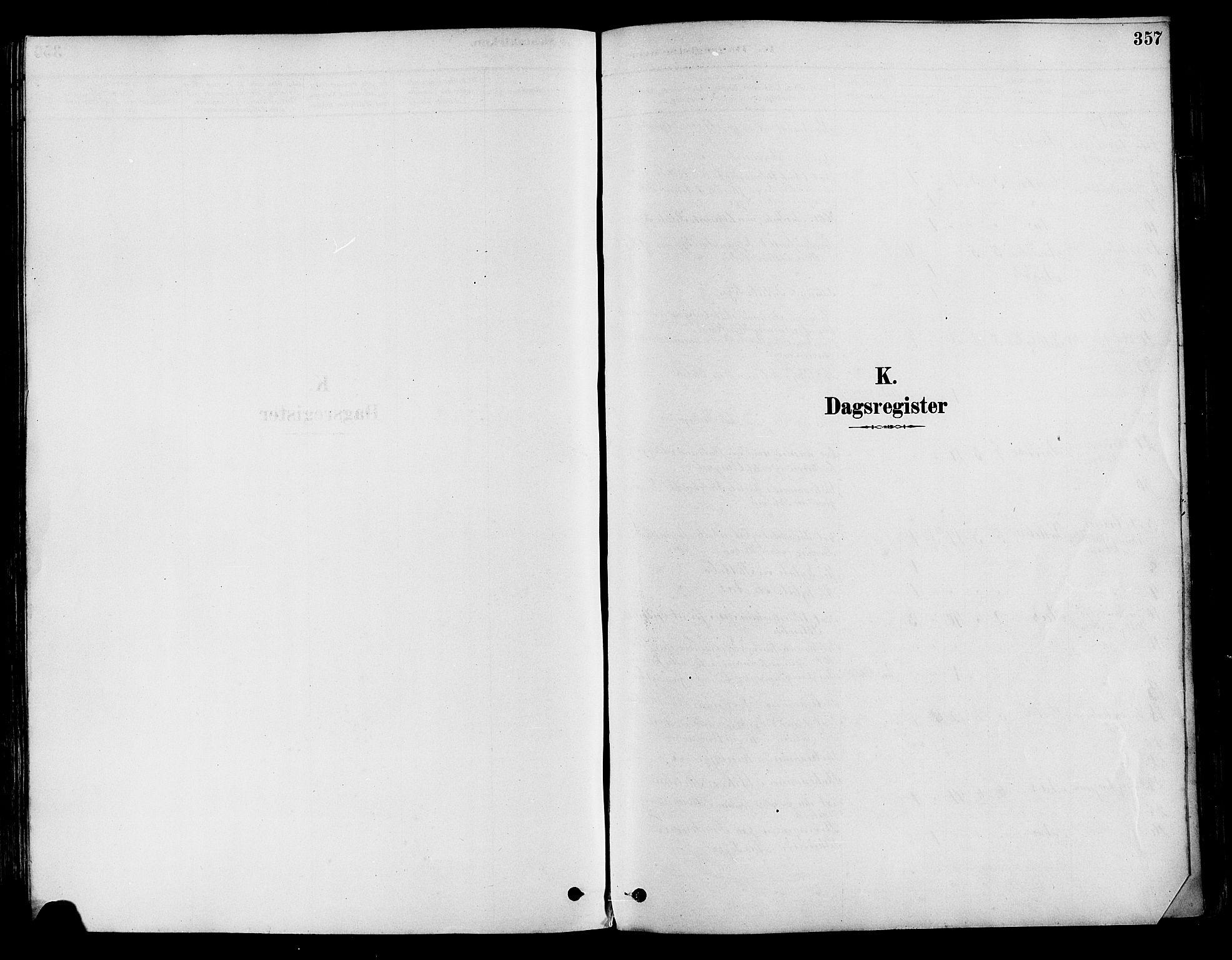 SAH, Vestre Toten prestekontor, Ministerialbok nr. 9, 1878-1894, s. 357