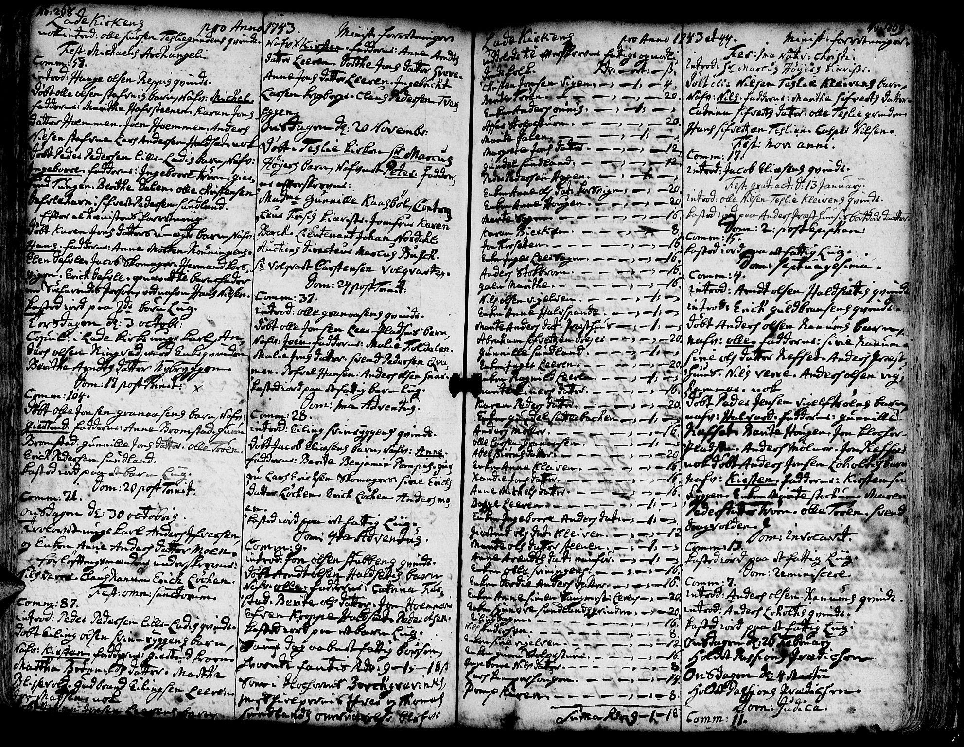 SAT, Ministerialprotokoller, klokkerbøker og fødselsregistre - Sør-Trøndelag, 606/L0275: Ministerialbok nr. 606A01 /1, 1727-1780, s. 268-269