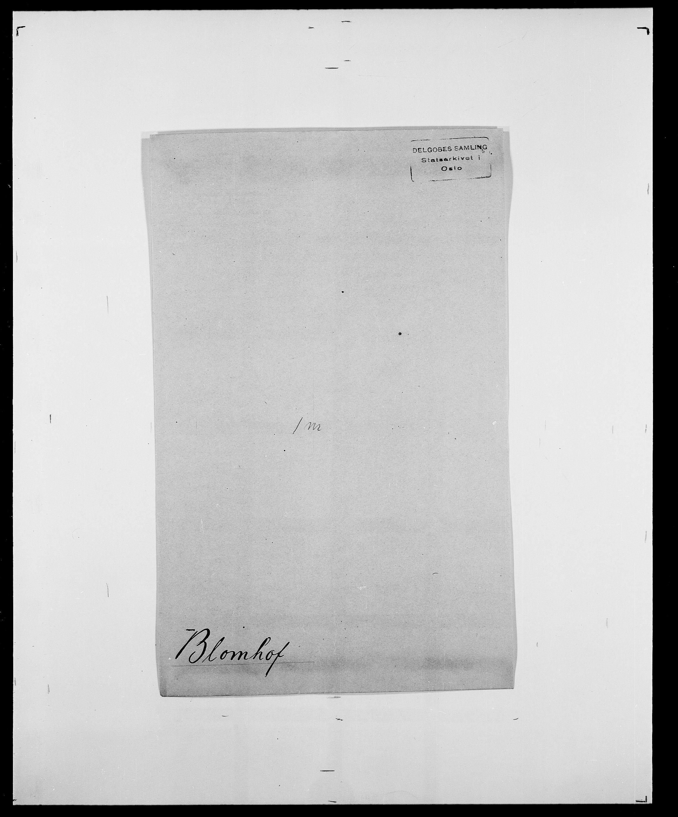 SAO, Delgobe, Charles Antoine - samling, D/Da/L0004: Bergendahl - Blære, s. 780