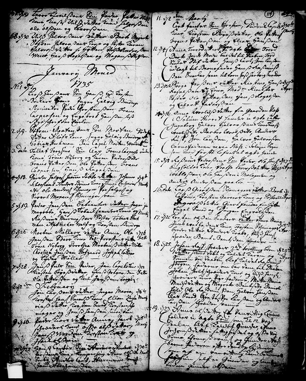 SAKO, Skien kirkebøker, F/Fa/L0002: Ministerialbok nr. 2, 1716-1757, s. 114