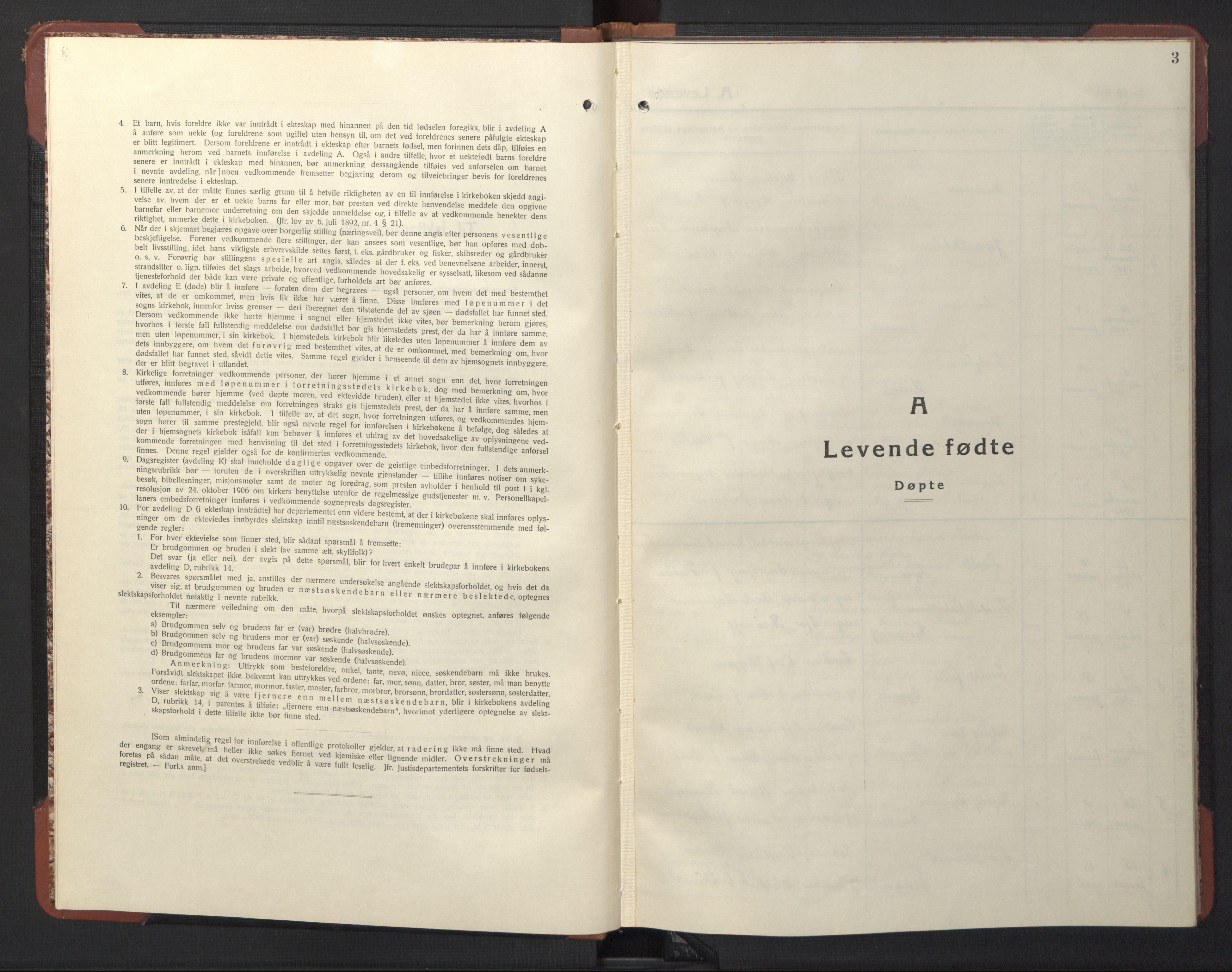 SAT, Ministerialprotokoller, klokkerbøker og fødselsregistre - Sør-Trøndelag, 611/L0358: Klokkerbok nr. 611C06, 1943-1946, s. 3
