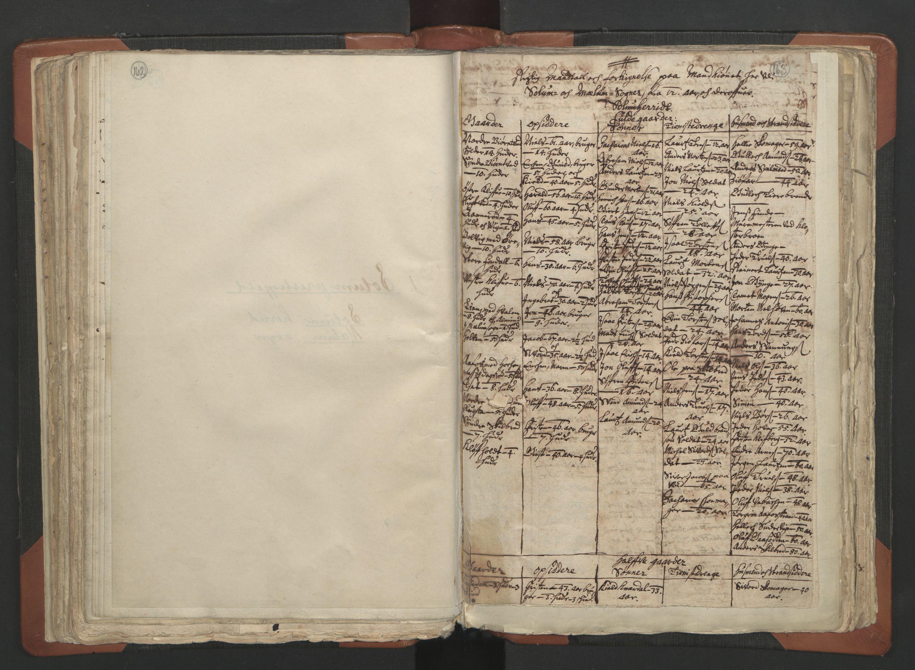 RA, Sogneprestenes manntall 1664-1666, nr. 12: Øvre Telemark prosti, Nedre Telemark prosti og Bamble prosti, 1664-1666, s. 162-163