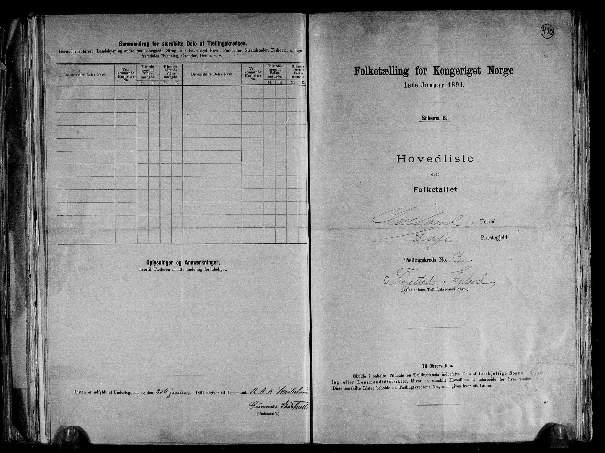 RA, Folketelling 1891 for 0935 Iveland herred, 1891, s. 8