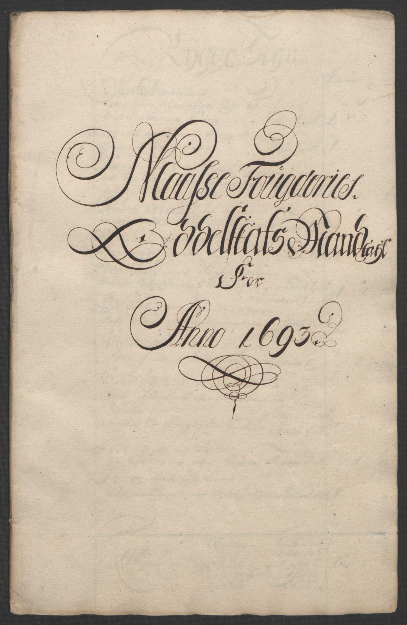 RA, Rentekammeret inntil 1814, Reviderte regnskaper, Fogderegnskap, R02/L0108: Fogderegnskap Moss og Verne kloster, 1692-1693, s. 296