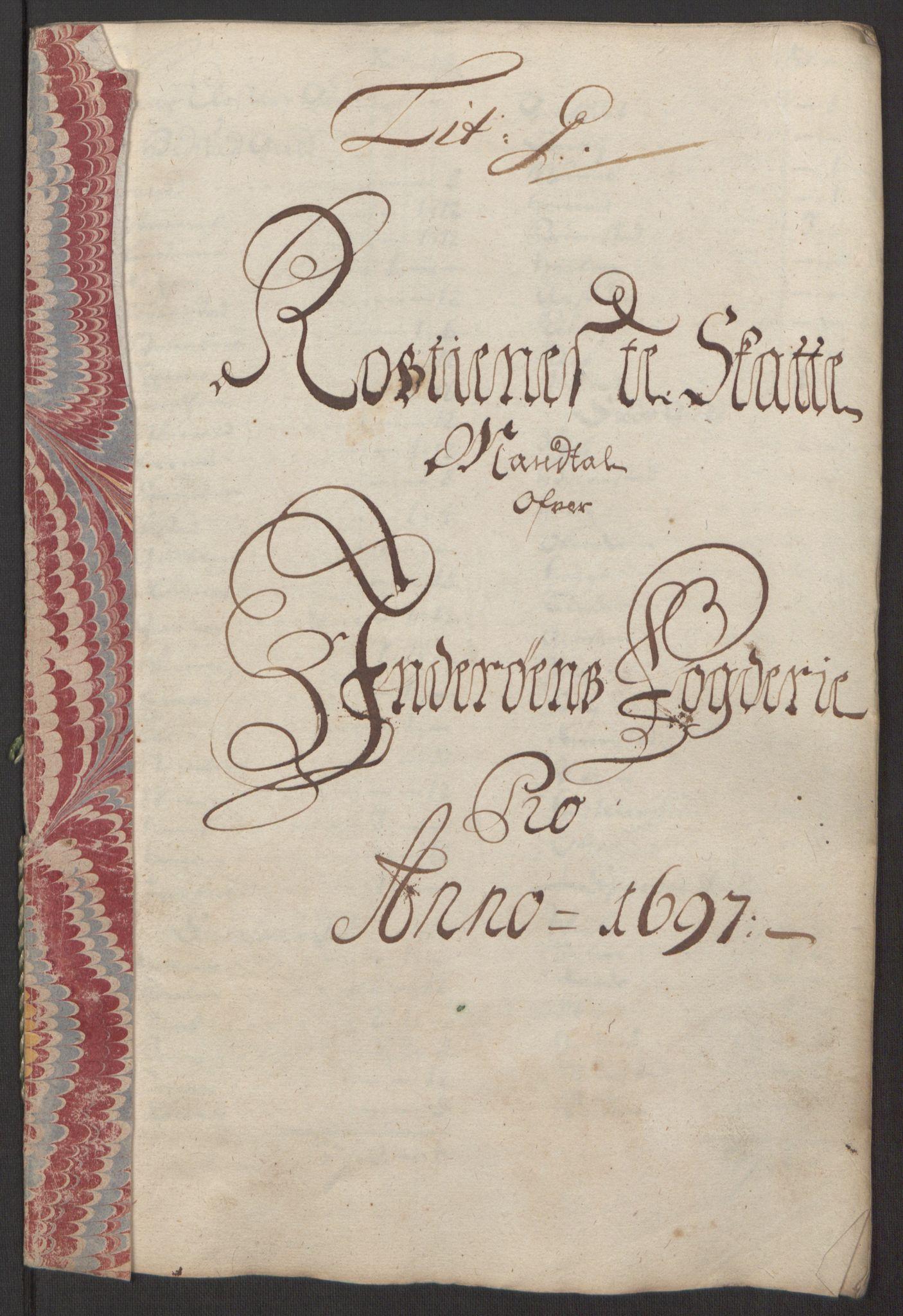 RA, Rentekammeret inntil 1814, Reviderte regnskaper, Fogderegnskap, R63/L4309: Fogderegnskap Inderøy, 1695-1697, s. 452