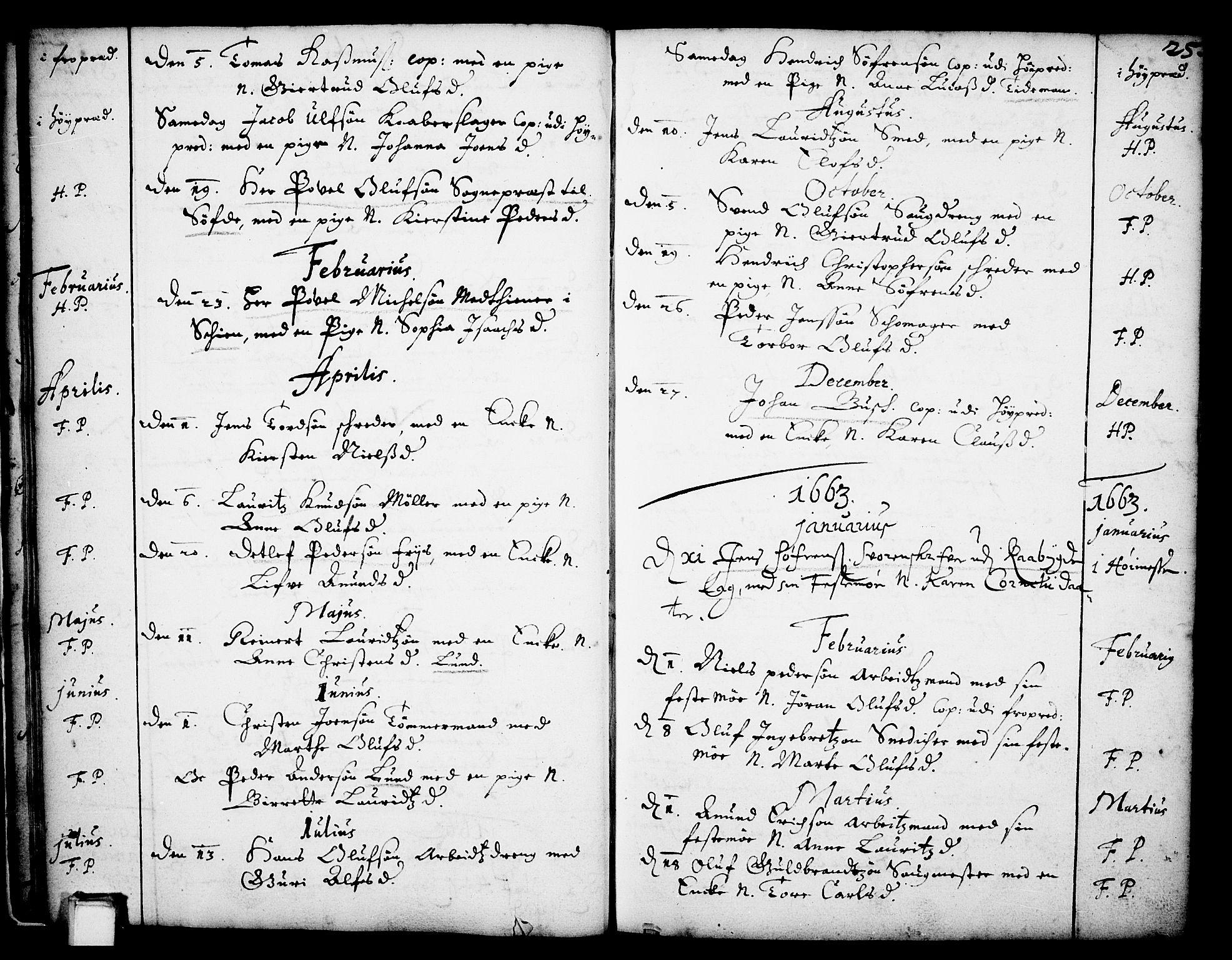 SAKO, Skien kirkebøker, F/Fa/L0001: Ministerialbok nr. 1, 1659-1679, s. 25