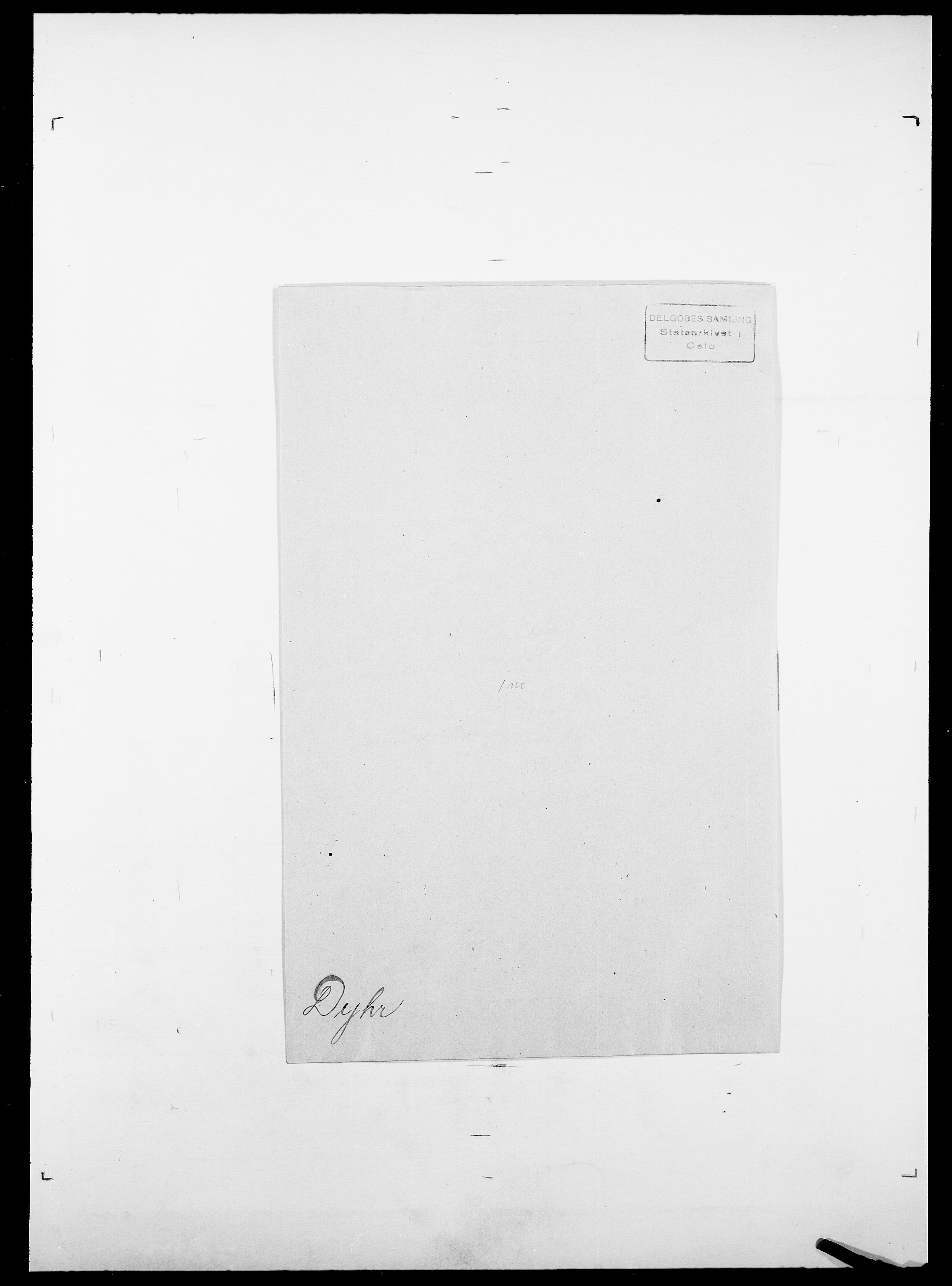 SAO, Delgobe, Charles Antoine - samling, D/Da/L0009: Dahl - v. Düren, s. 901
