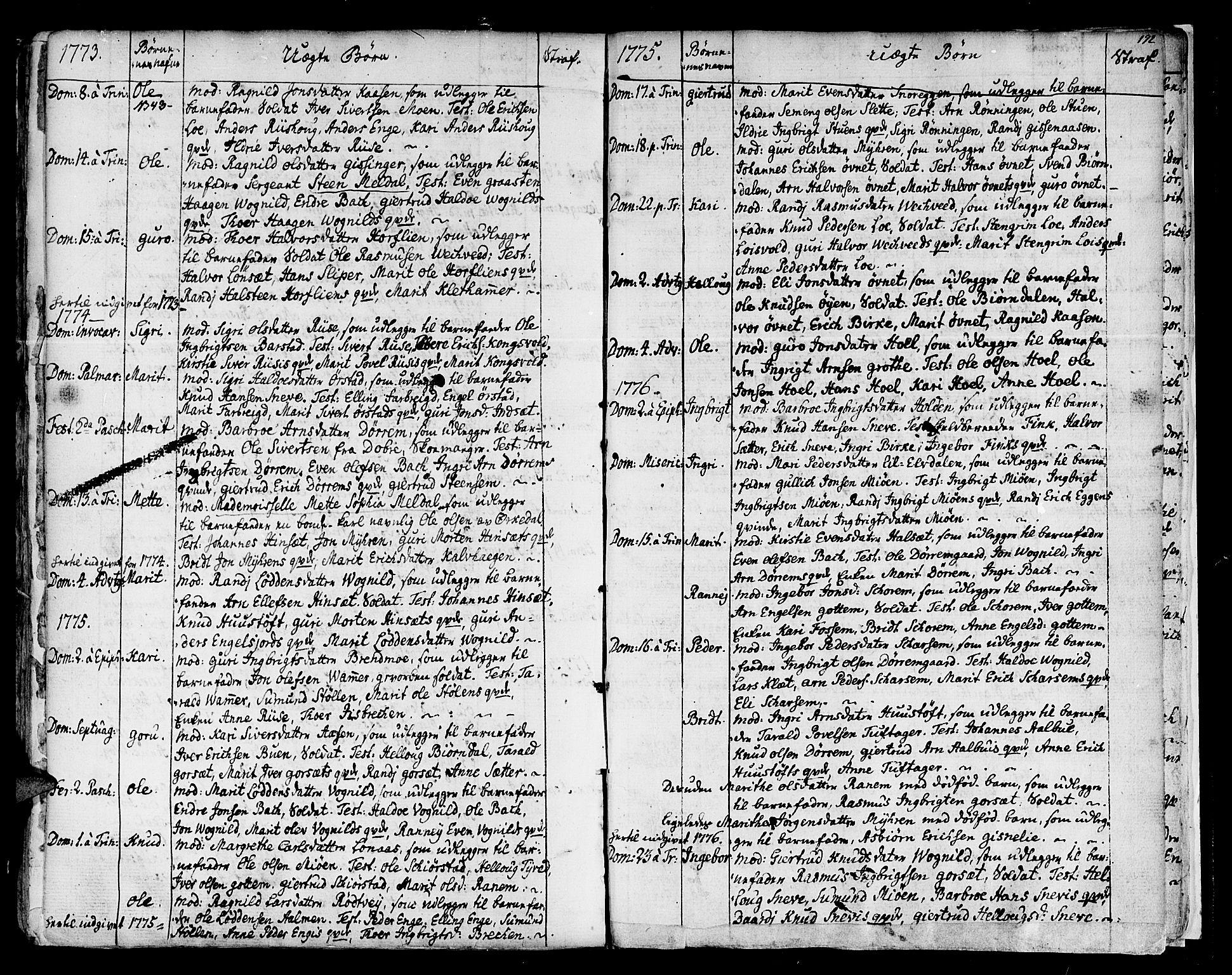 SAT, Ministerialprotokoller, klokkerbøker og fødselsregistre - Sør-Trøndelag, 678/L0891: Ministerialbok nr. 678A01, 1739-1780, s. 192