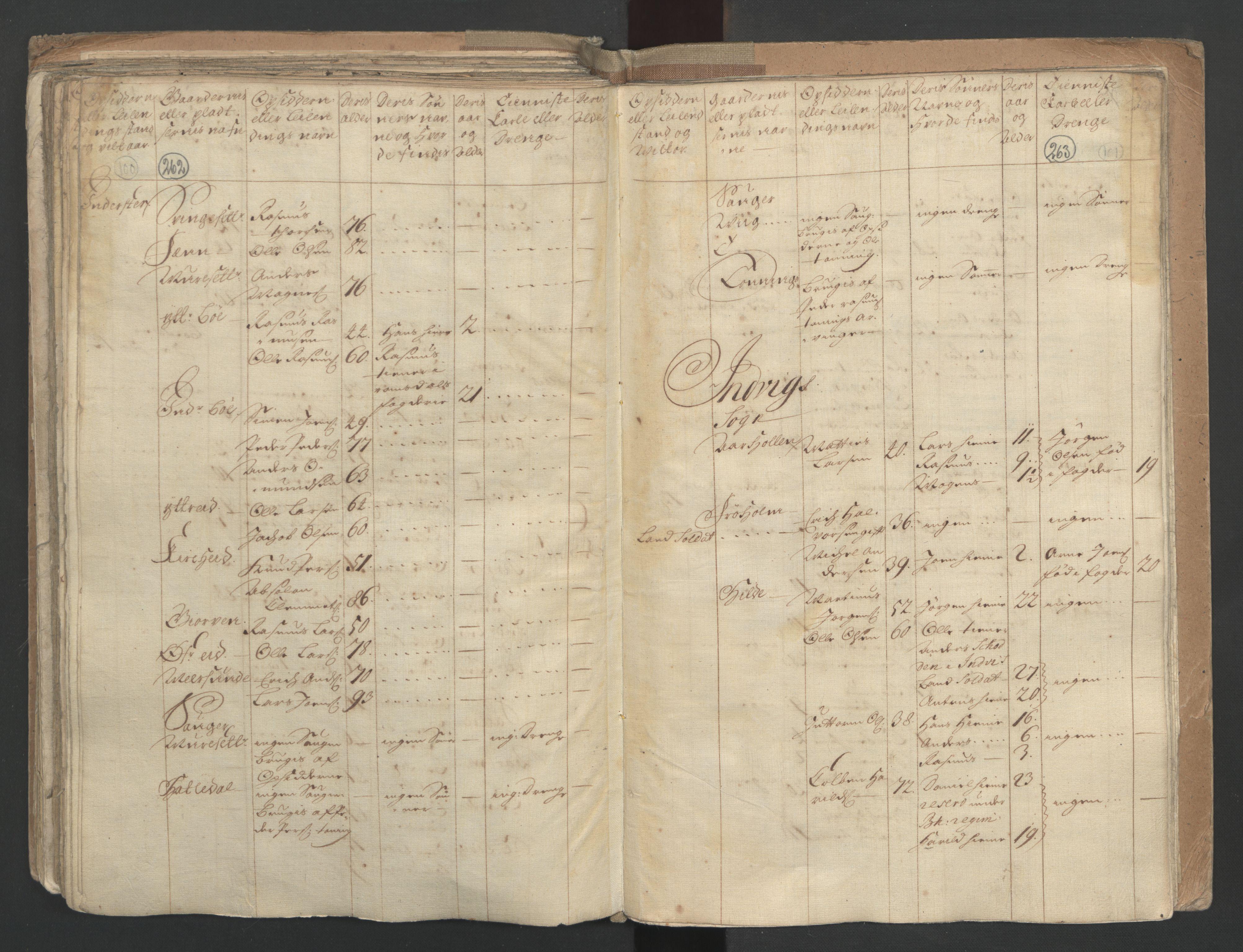 RA, Manntallet 1701, nr. 9: Sunnfjord fogderi, Nordfjord fogderi og Svanø birk, 1701, s. 262-263