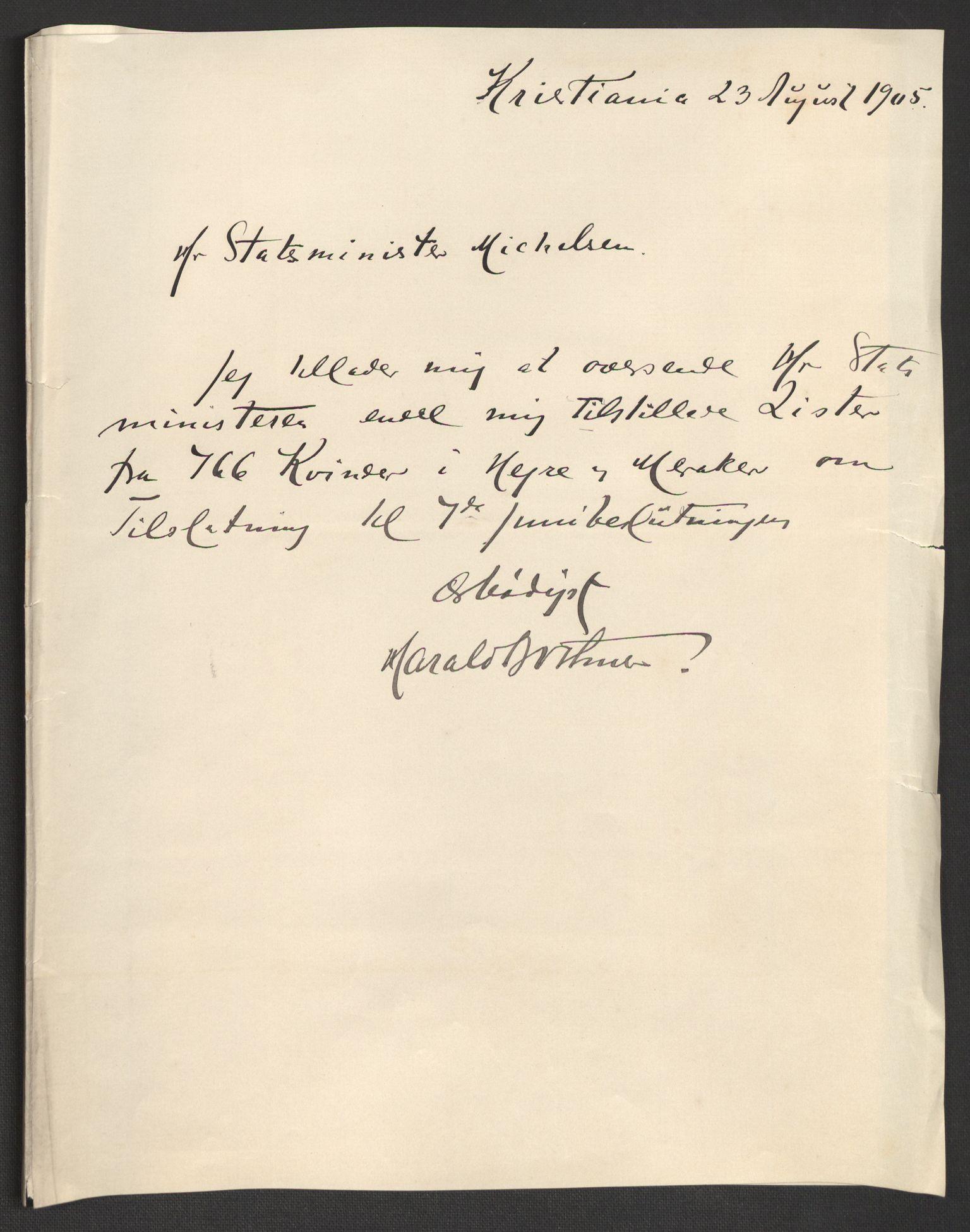 RA, Justisdepartementet, 2. sivilkontor C, F/L0125B: Folkeavstemmingen august 1905, 1905, s. 34