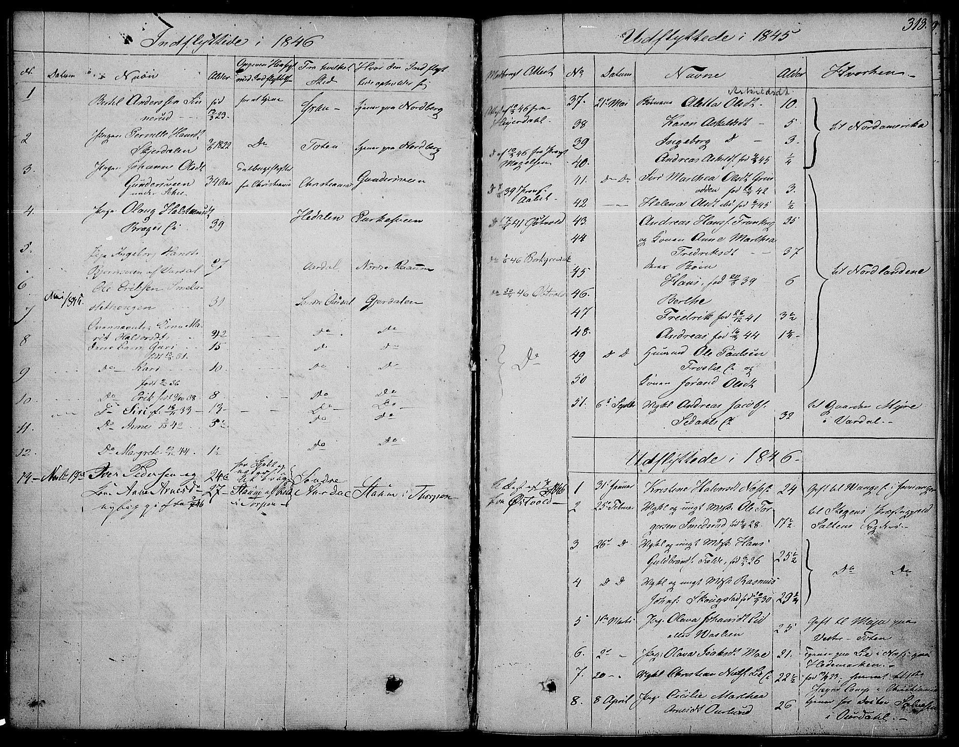 SAH, Land prestekontor, Ministerialbok nr. 8, 1830-1846, s. 318