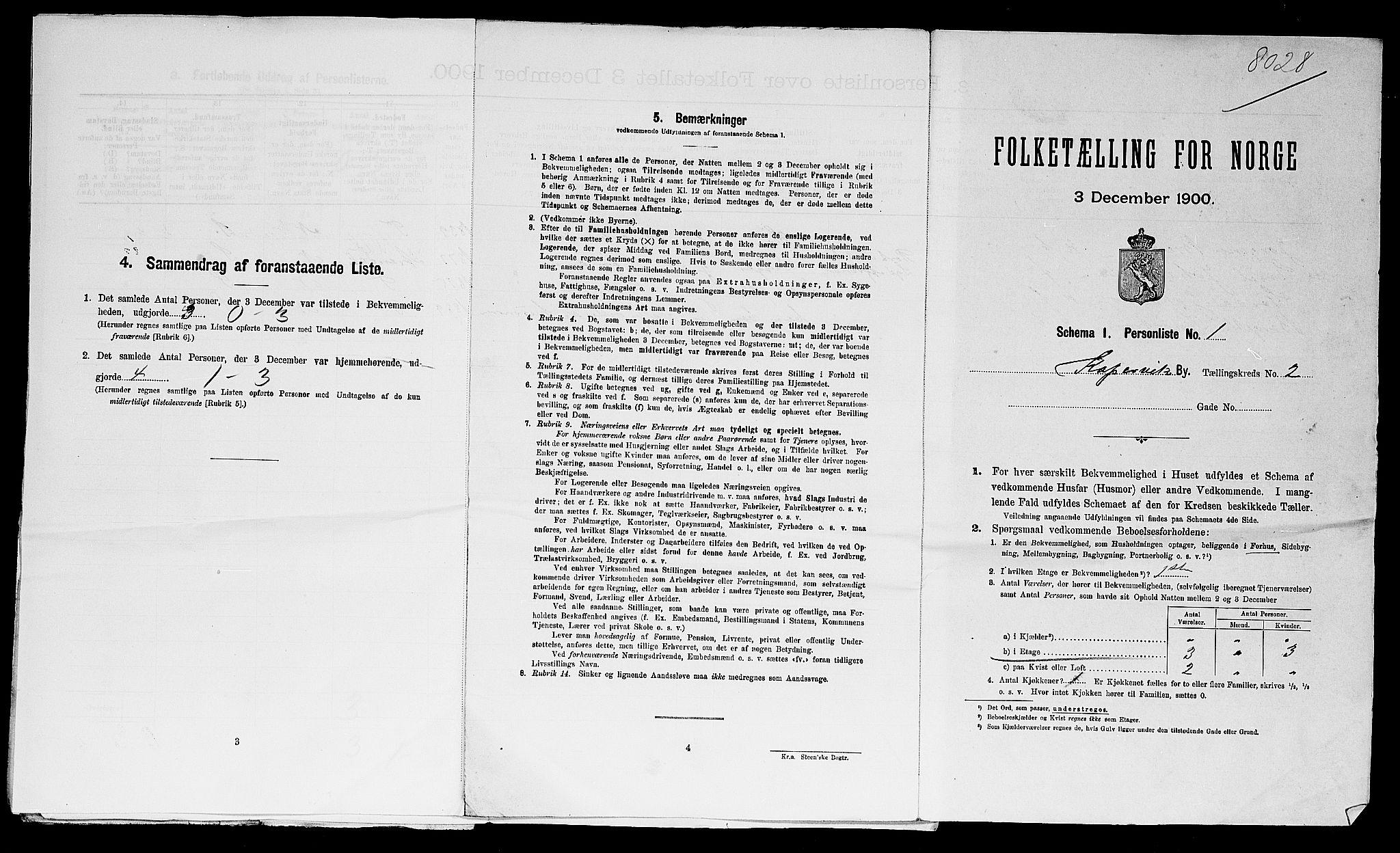 SAST, Folketelling 1900 for 1105 Kopervik ladested, 1900, s. 832