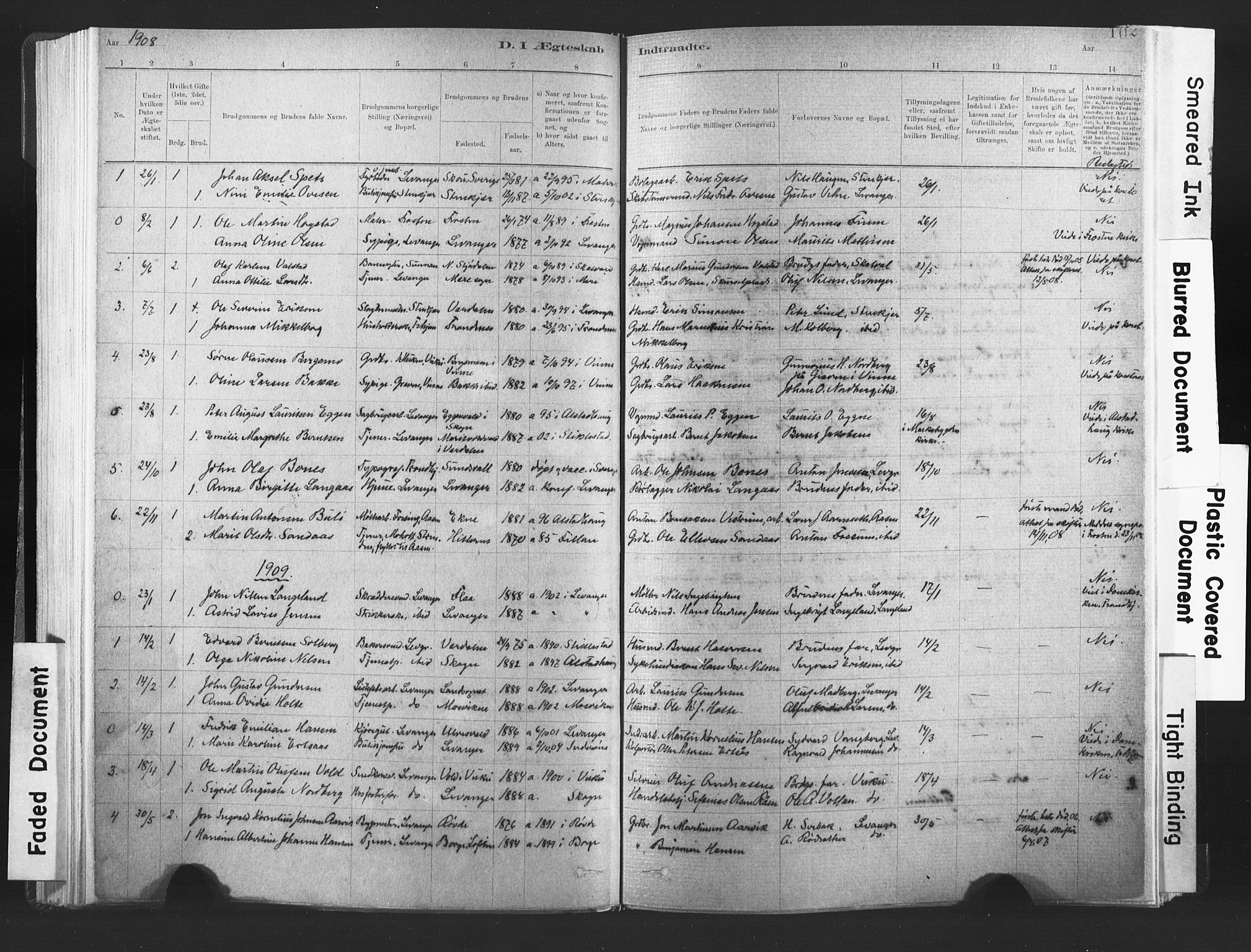 SAT, Ministerialprotokoller, klokkerbøker og fødselsregistre - Nord-Trøndelag, 720/L0189: Ministerialbok nr. 720A05, 1880-1911, s. 102