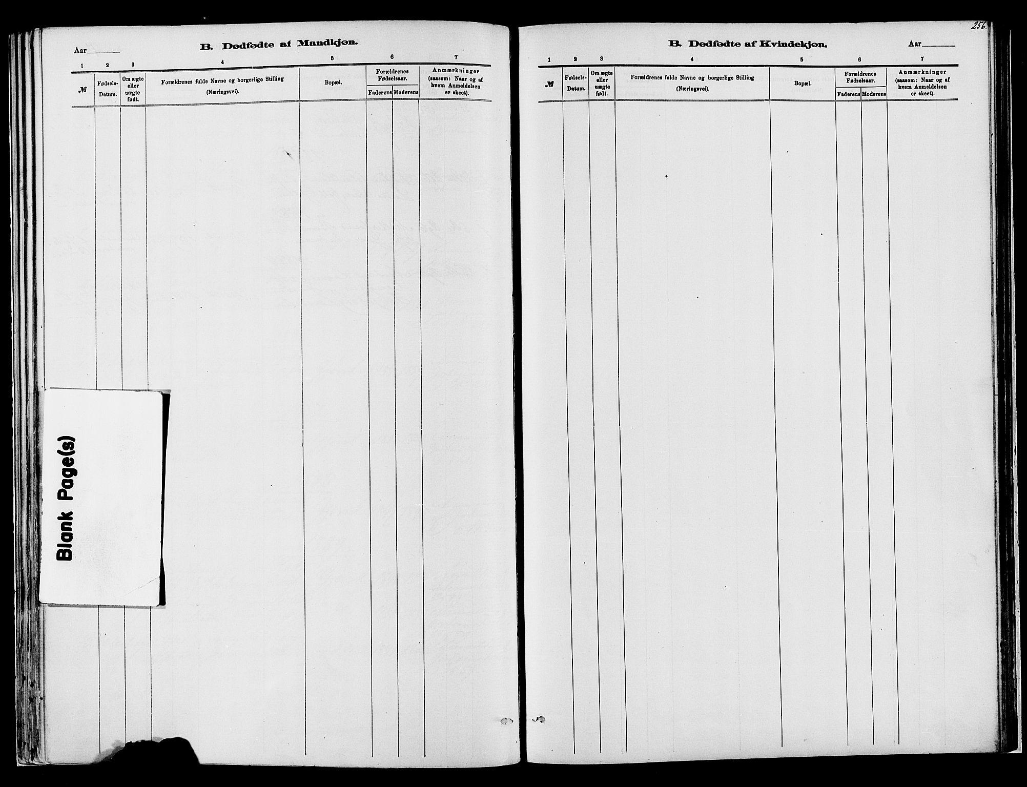 SAH, Vardal prestekontor, H/Ha/Haa/L0008: Ministerialbok nr. 8, 1878-1890, s. 256