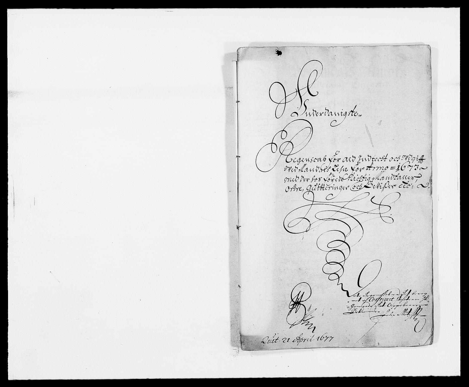 RA, Rentekammeret inntil 1814, Reviderte regnskaper, Fogderegnskap, R42/L2539: Mandal fogderi, 1671-1675, s. 129