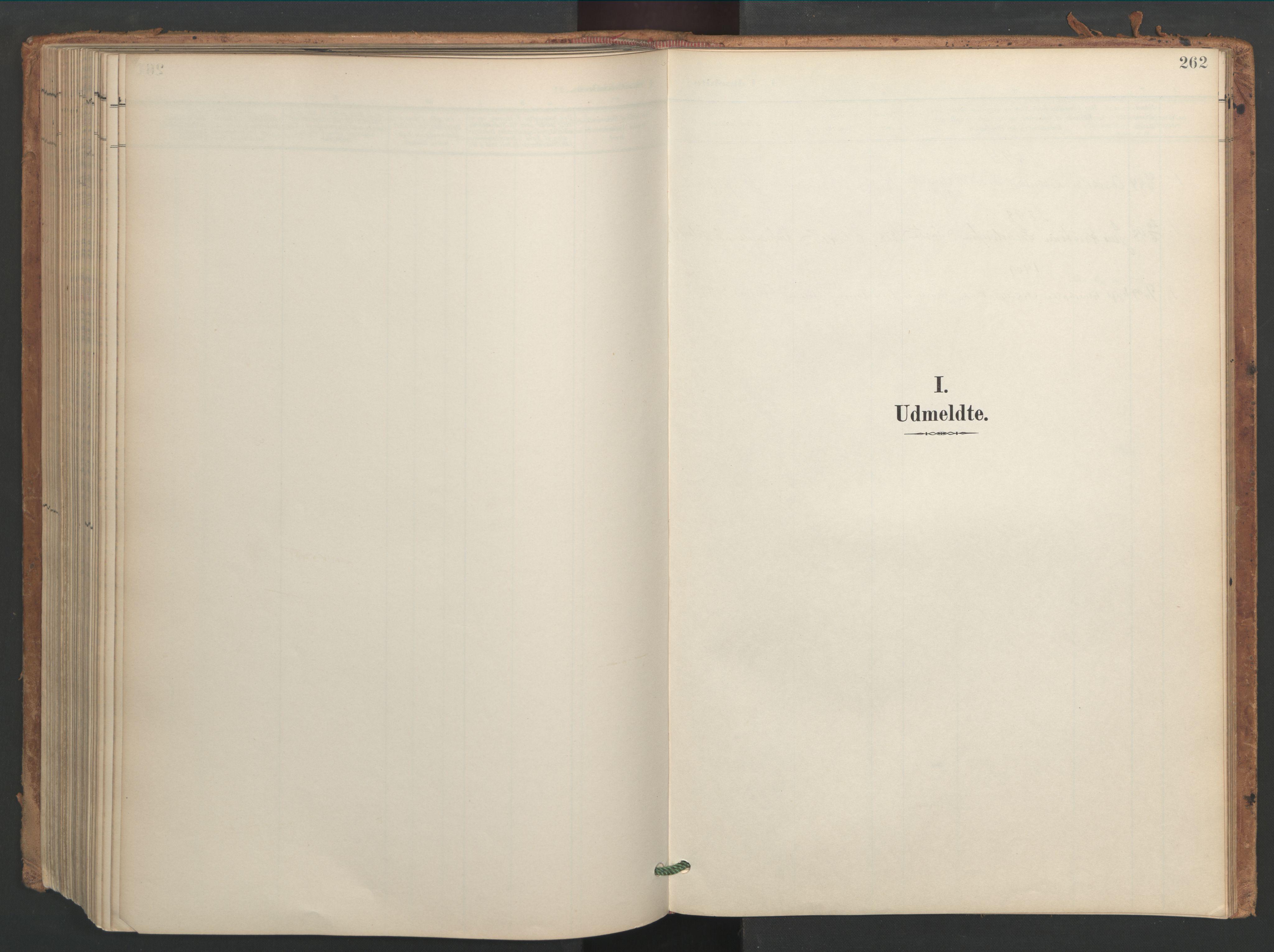 SAT, Ministerialprotokoller, klokkerbøker og fødselsregistre - Sør-Trøndelag, 656/L0693: Ministerialbok nr. 656A02, 1894-1913, s. 262