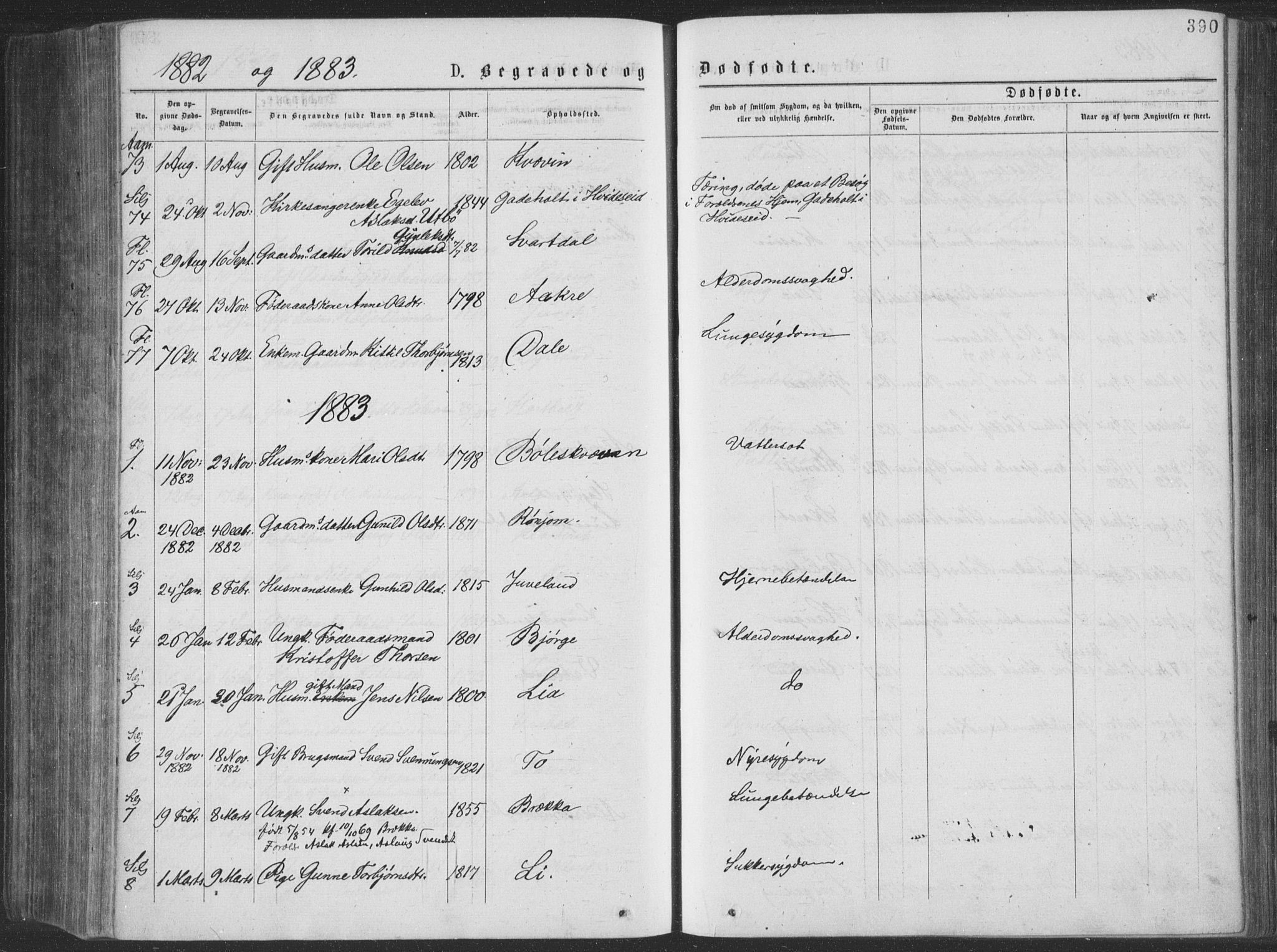 SAKO, Seljord kirkebøker, F/Fa/L0014: Ministerialbok nr. I 14, 1877-1886, s. 390