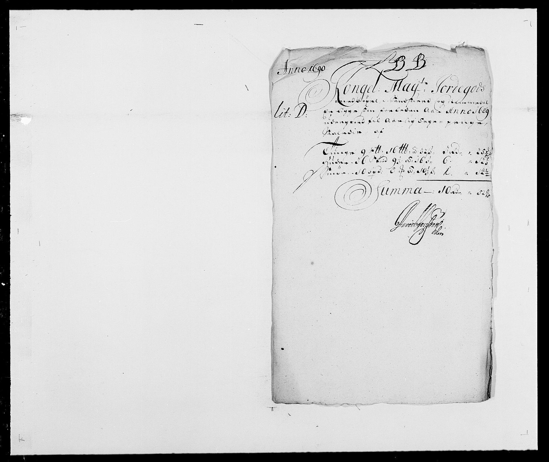 RA, Rentekammeret inntil 1814, Reviderte regnskaper, Fogderegnskap, R24/L1573: Fogderegnskap Numedal og Sandsvær, 1687-1691, s. 426