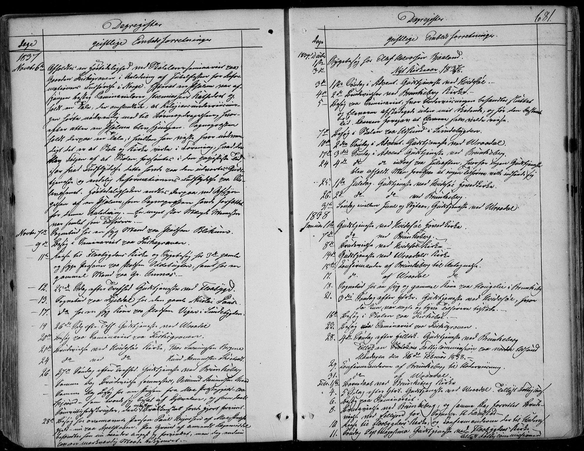 SAKO, Kviteseid kirkebøker, F/Fa/L0006: Ministerialbok nr. I 6, 1836-1858, s. 681