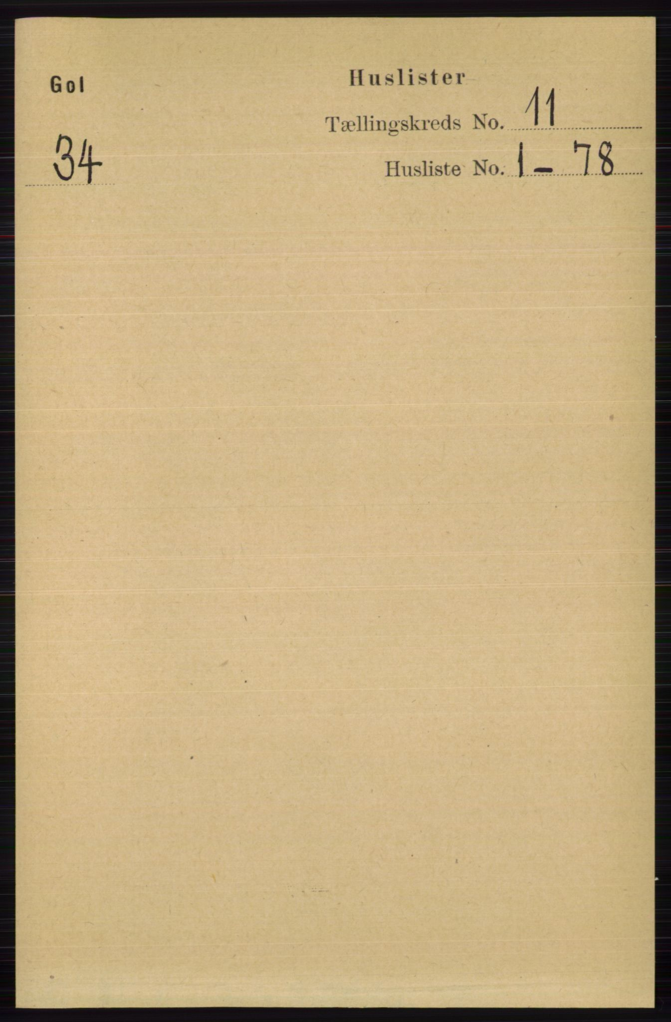 RA, Folketelling 1891 for 0617 Gol og Hemsedal herred, 1891, s. 4281