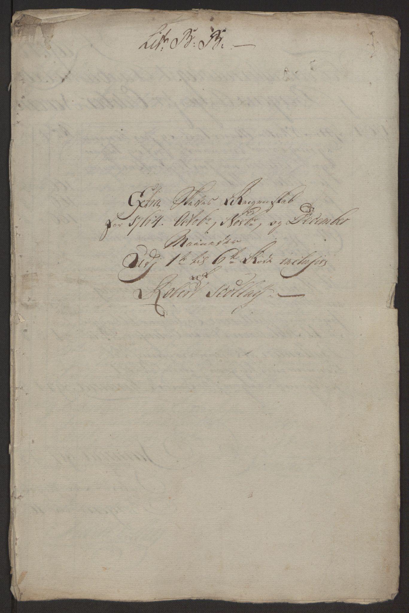 RA, Rentekammeret inntil 1814, Reviderte regnskaper, Byregnskaper, R/Rp/L0367: [P21] Kontribusjonsregnskap, 1764, s. 161