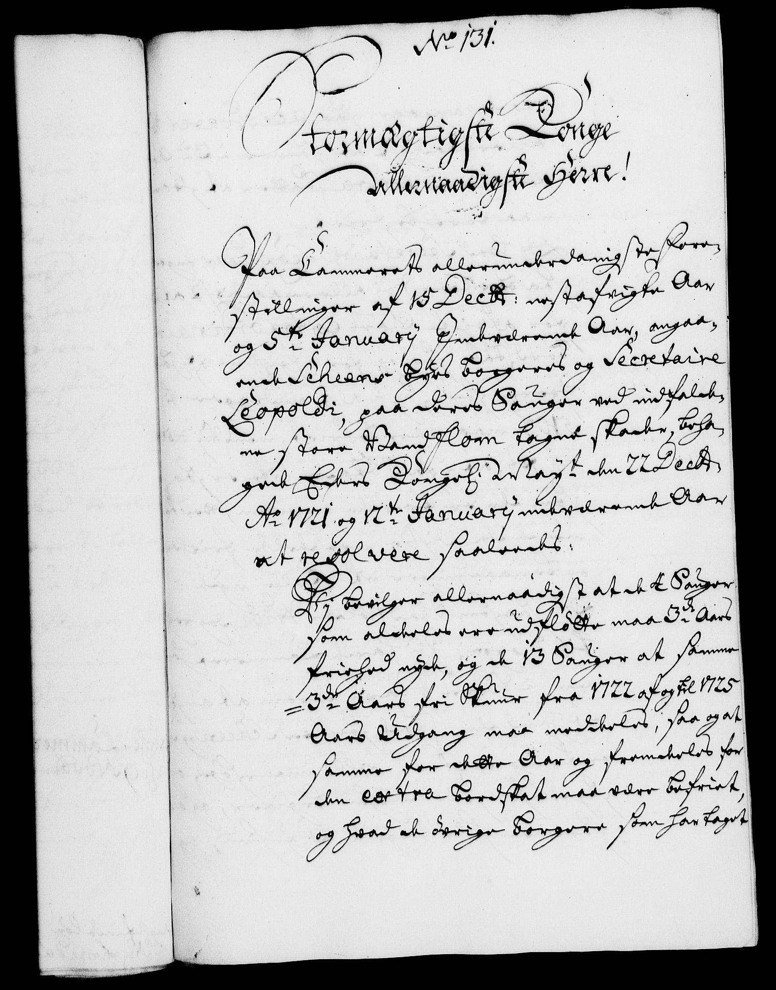 RA, Rentekammeret, Kammerkanselliet, G/Gf/Gfa/L0005: Norsk relasjons- og resolusjonsprotokoll (merket RK 52.5), 1722, s. 709