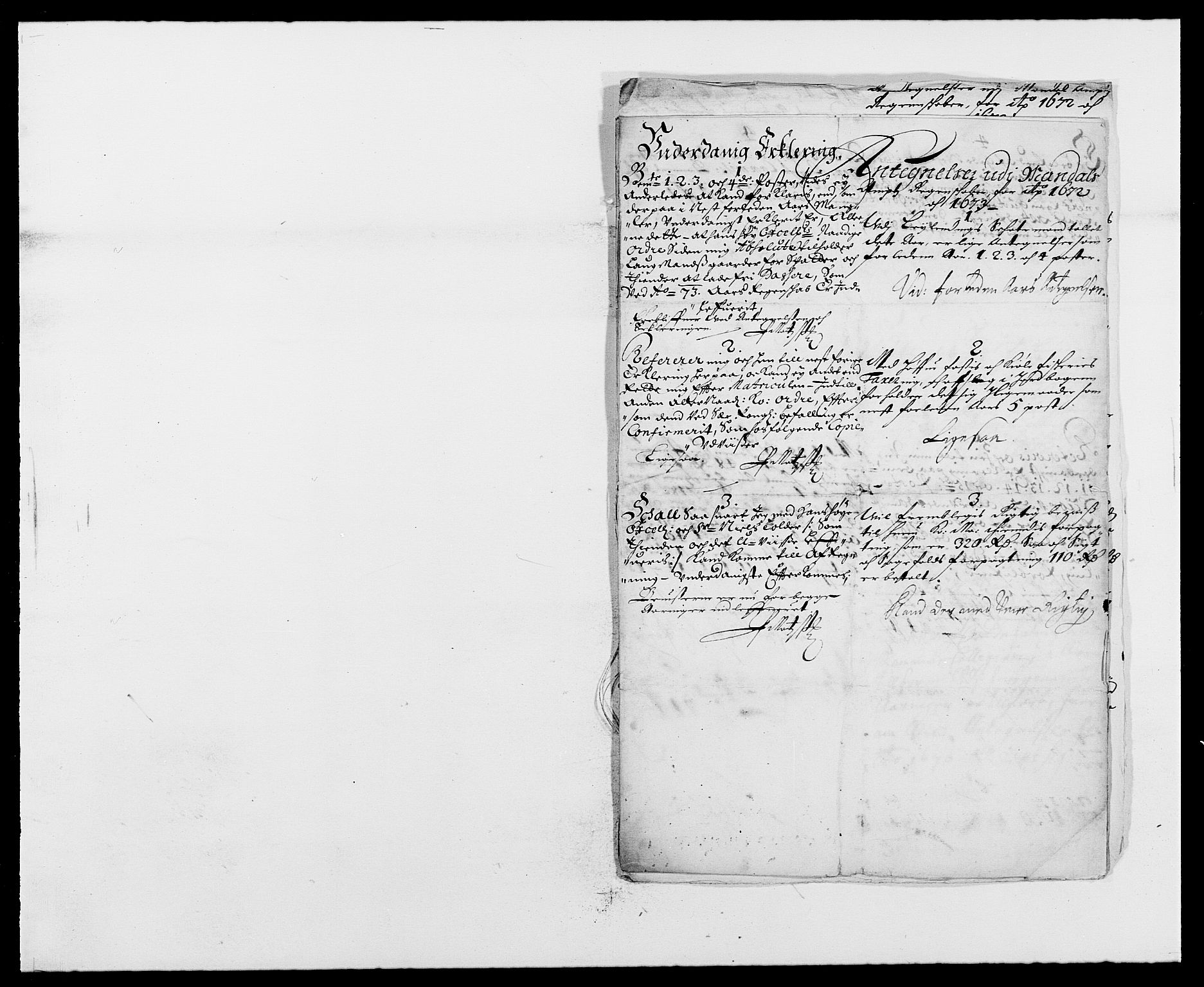 RA, Rentekammeret inntil 1814, Reviderte regnskaper, Fogderegnskap, R42/L2539: Mandal fogderi, 1671-1675, s. 162