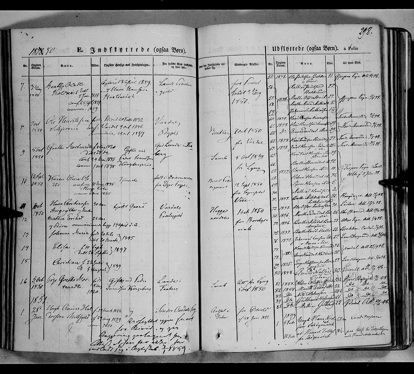 SAH, Biri prestekontor, Ministerialbok nr. 5, 1843-1854, s. 298