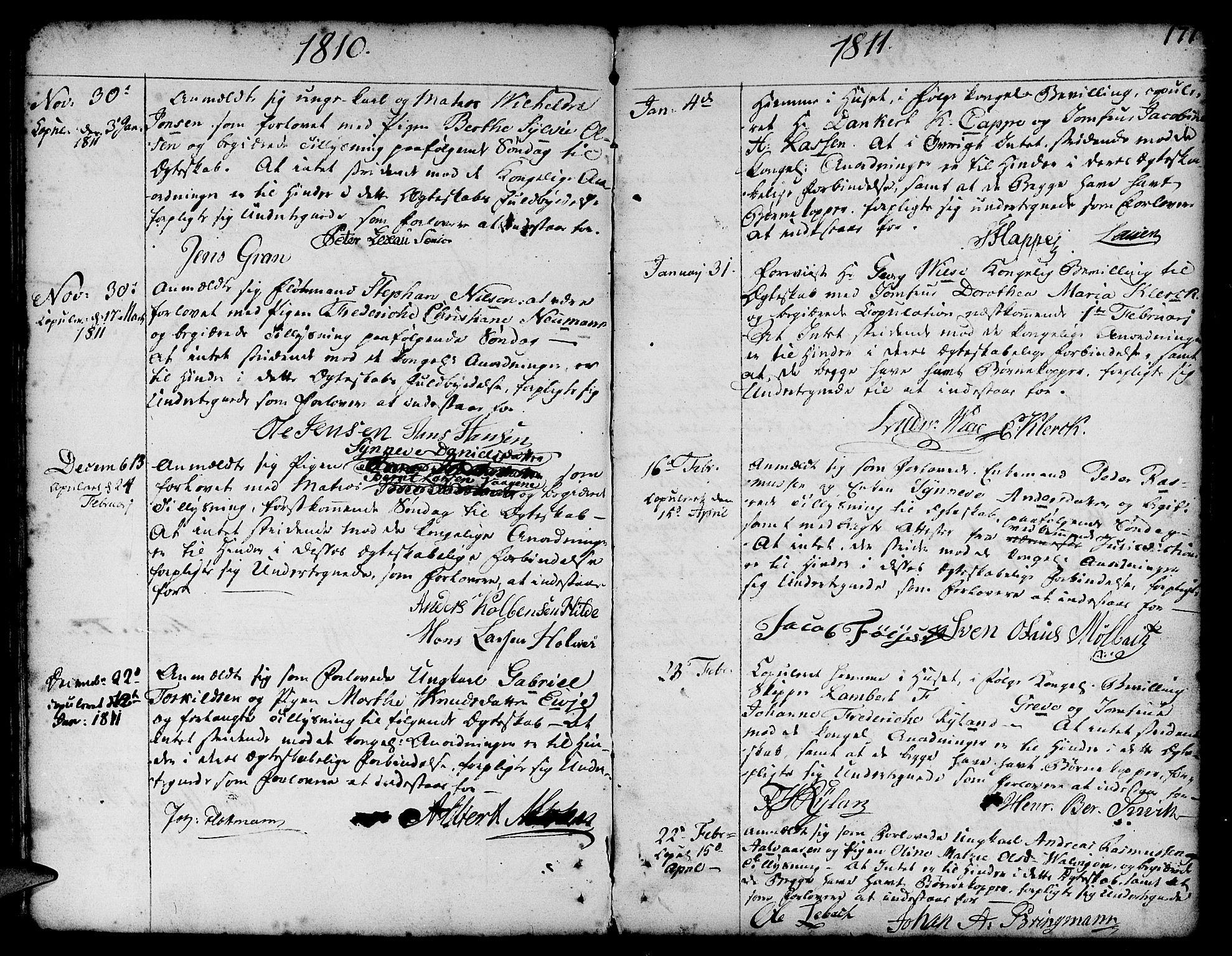SAB, Nykirken Sokneprestembete, H/Haa: Ministerialbok nr. A 8, 1776-1814, s. 171